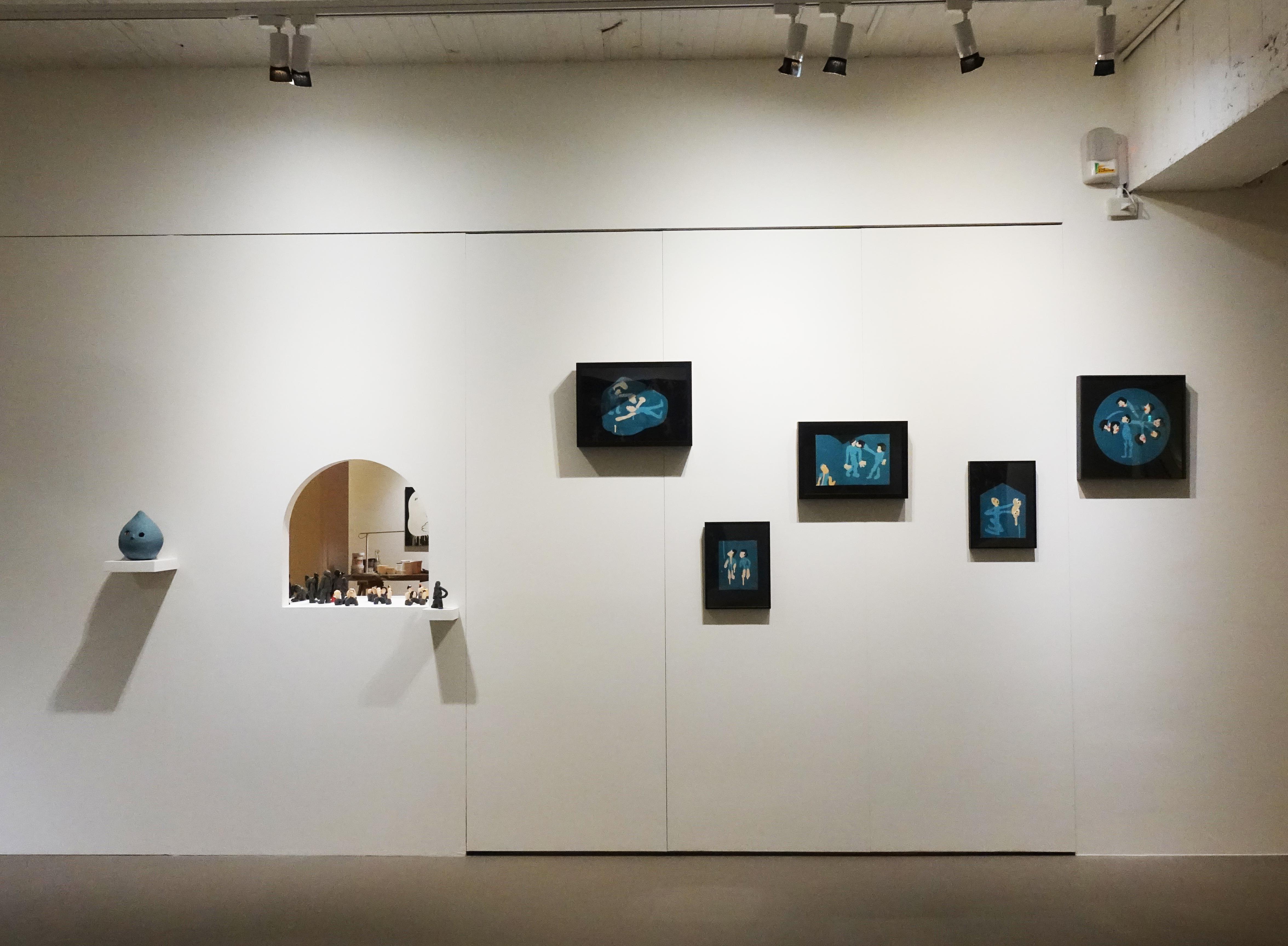 藝術家蕭筑方創作個展《很危險,請大家不要靠近》展場一隅。