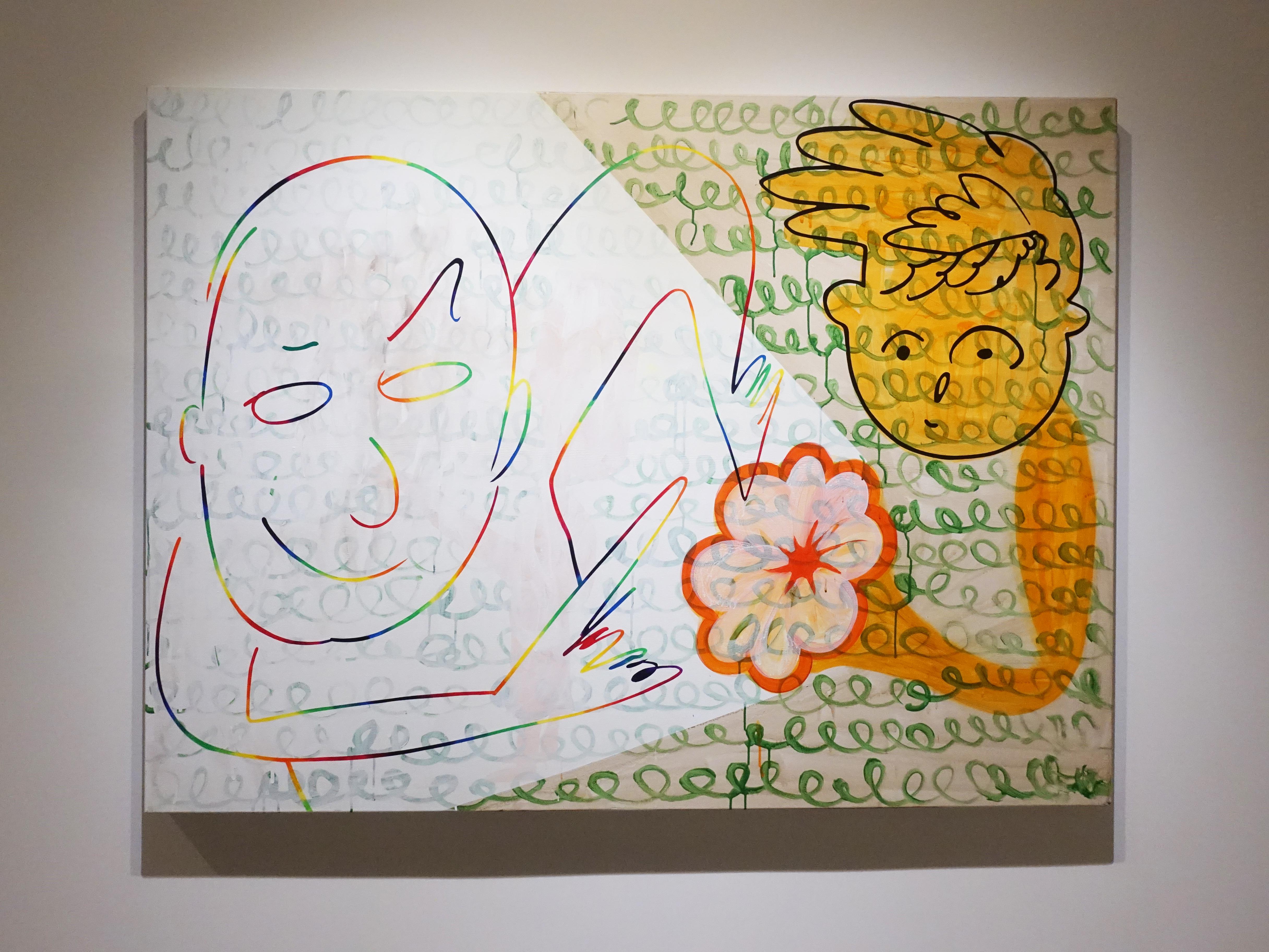 蕭筑方,《彩虹般的節奏》,120 x 162 cm,壓克力顏料、畫布,2019。