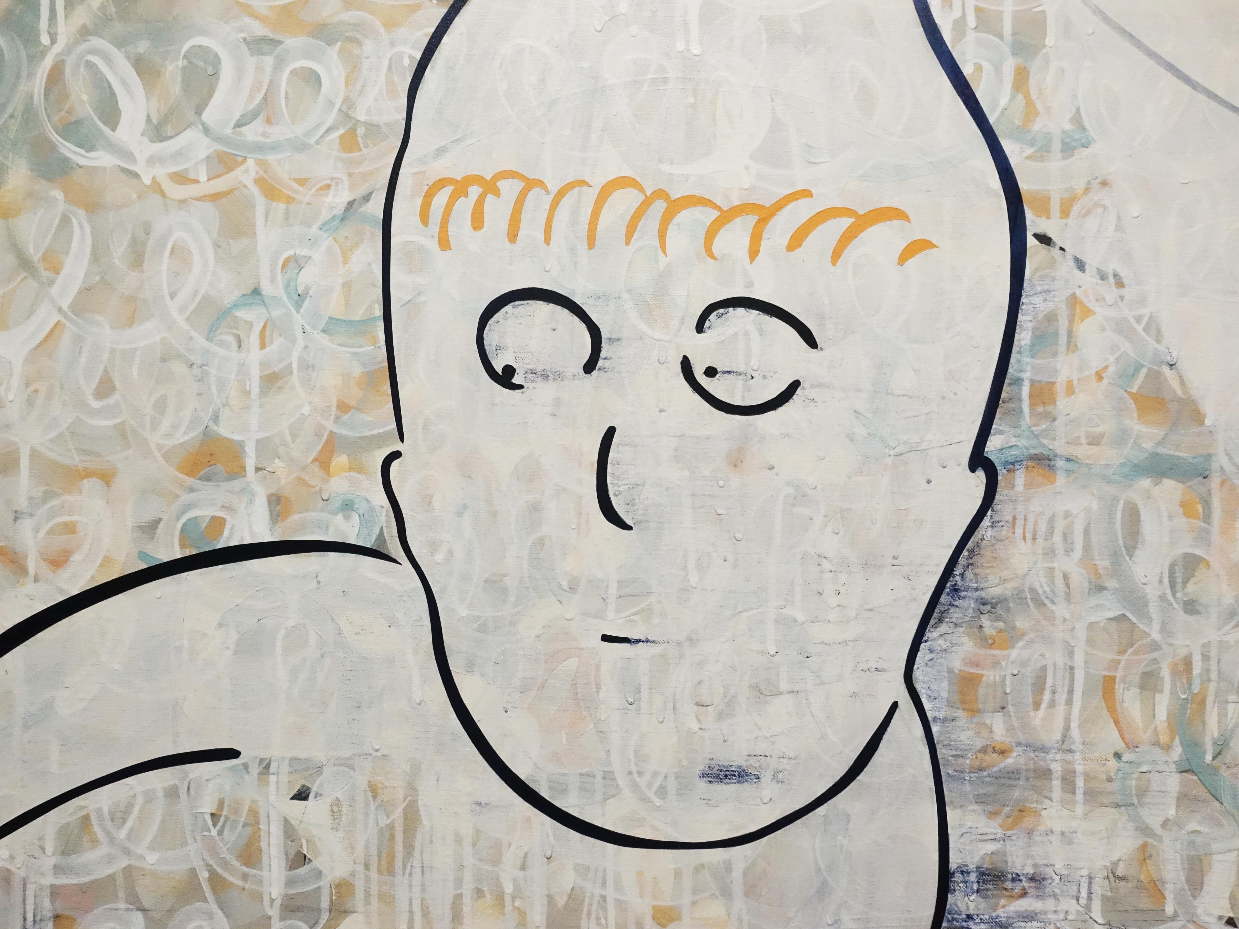 蕭筑方,《風吹的馬尾》,91 x 116.5 cm,壓克力顏料、畫布,2019。