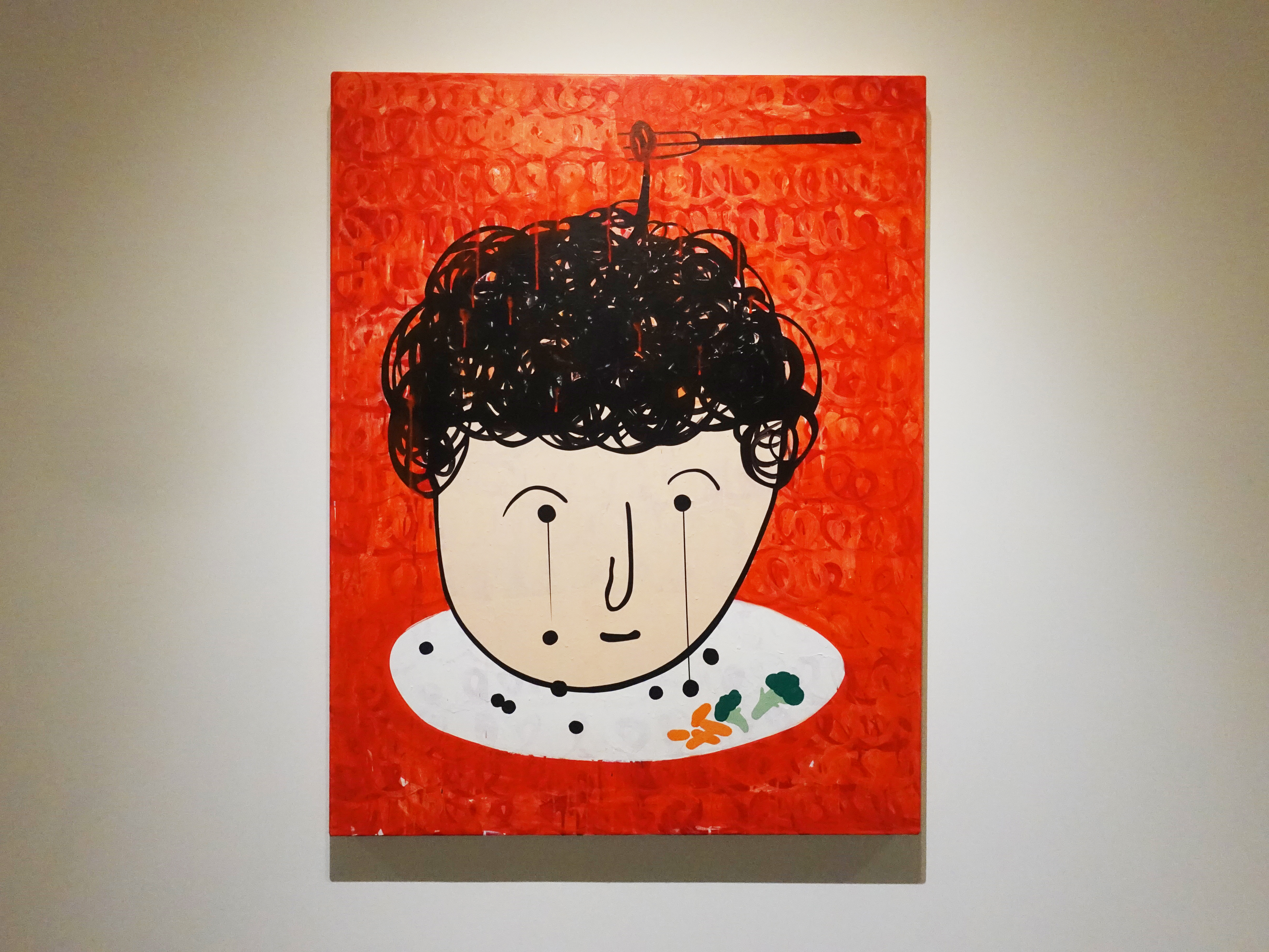 蕭筑方,《媽媽的珠淚》,17 x 91 cm,壓克力顏料、畫布,2019。