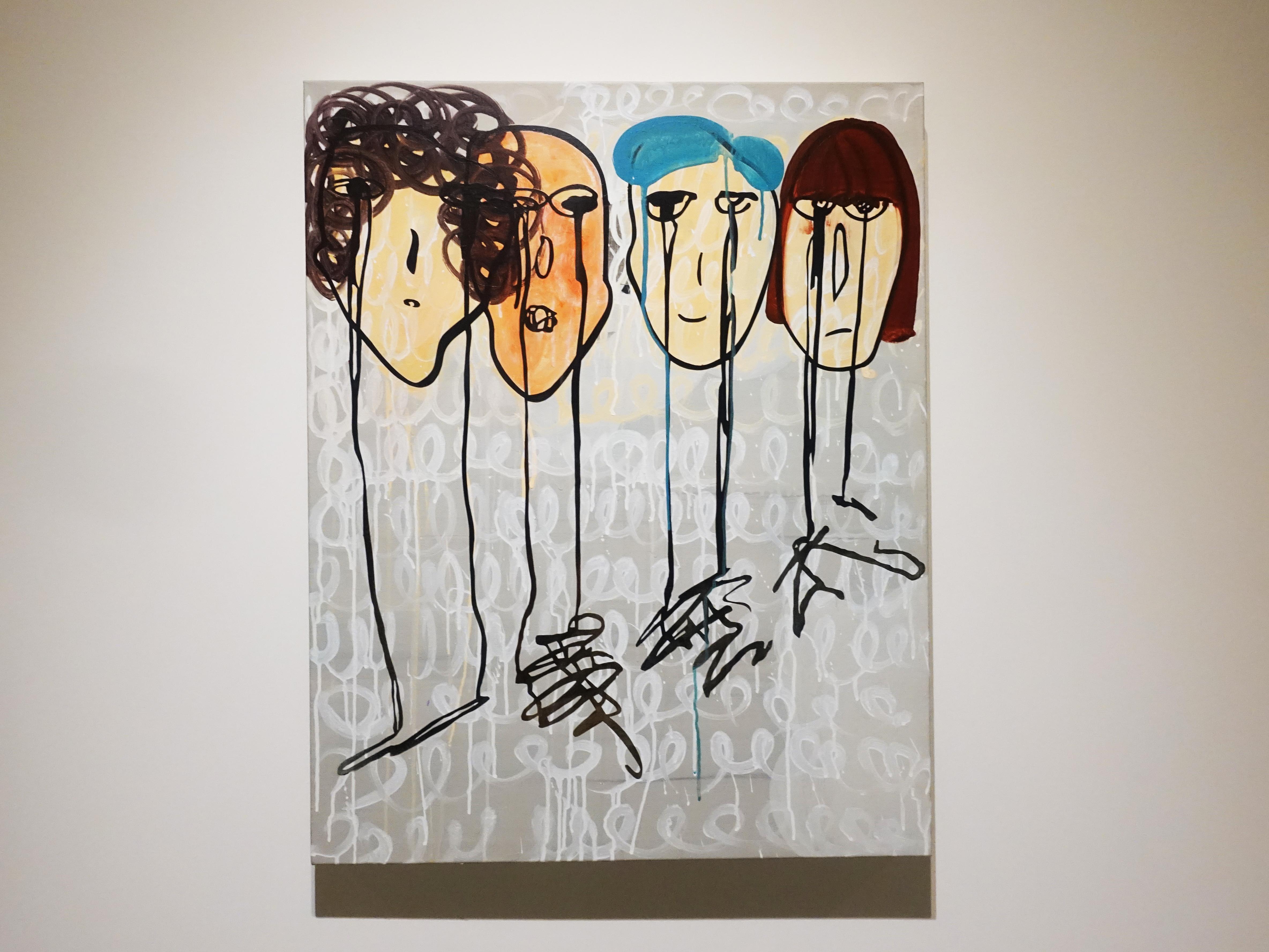 蕭筑方,《一事無成》,91 x 72.5 cm,壓克力顏料、畫布,2020。