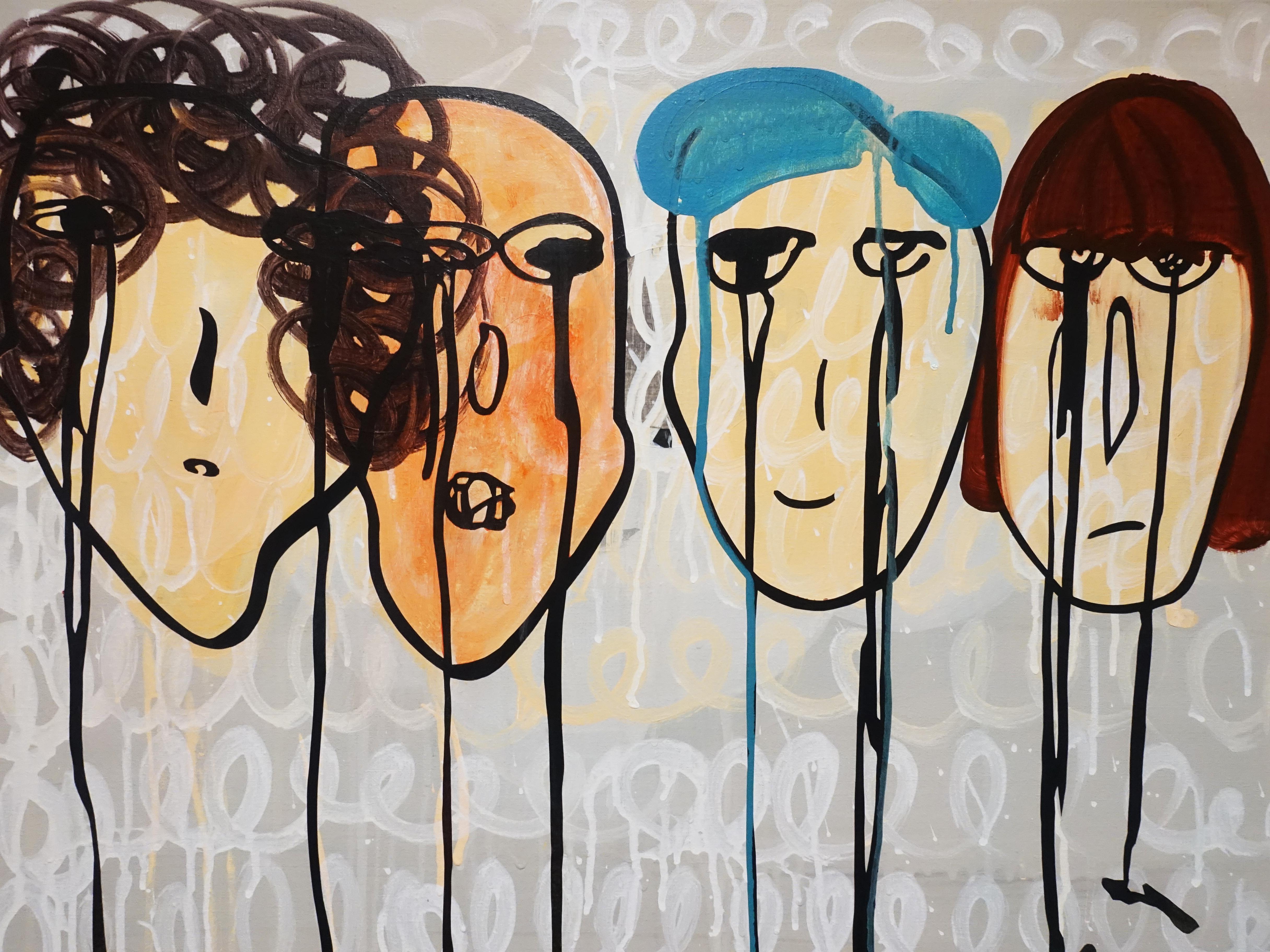 蕭筑方,《一事無成》細節,91 x 72.5 cm,壓克力顏料、畫布,2020。