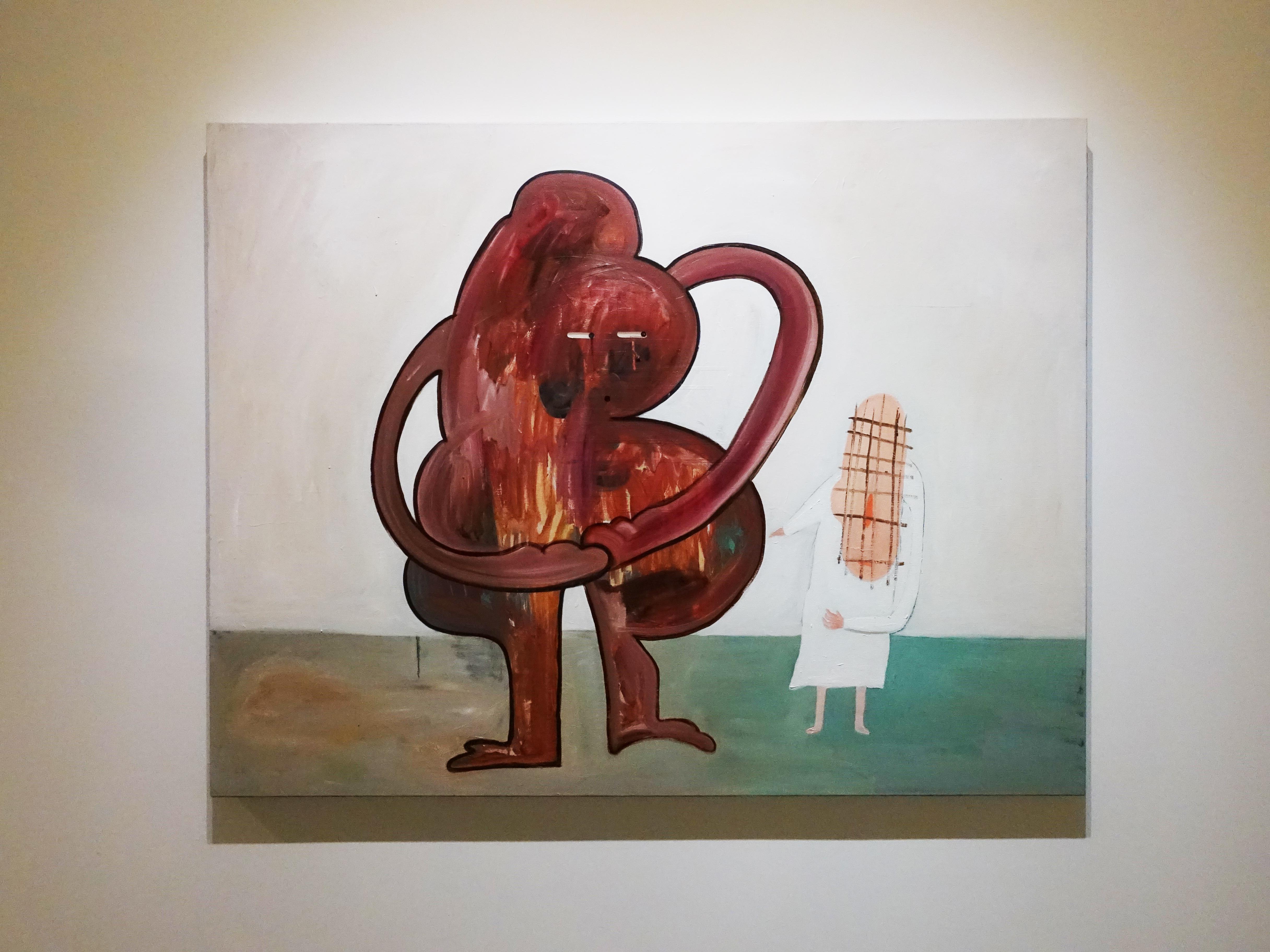 蕭筑方,《大便君》,112 x 145.5 cm,壓克力顏料、畫布,2019。