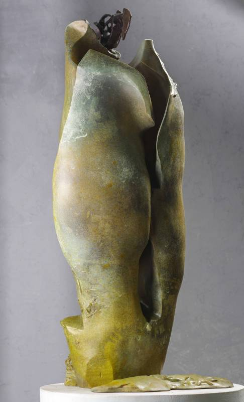 李光裕LEE Kuang-yu│探空Exploring the Void│59x59x126cm│銅Bronze│2019