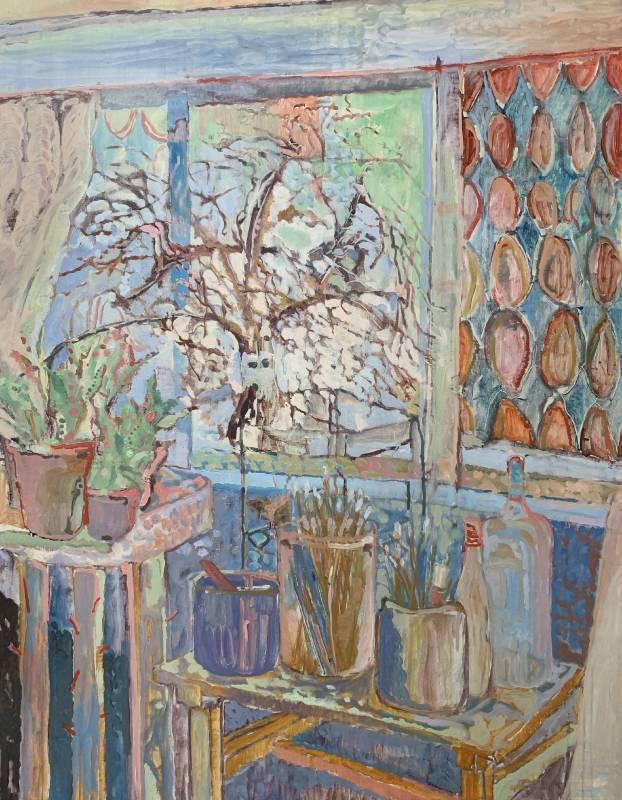 潘麒方,《工作室窗外(二)》,116.5×90cm,油彩、畫布,2018