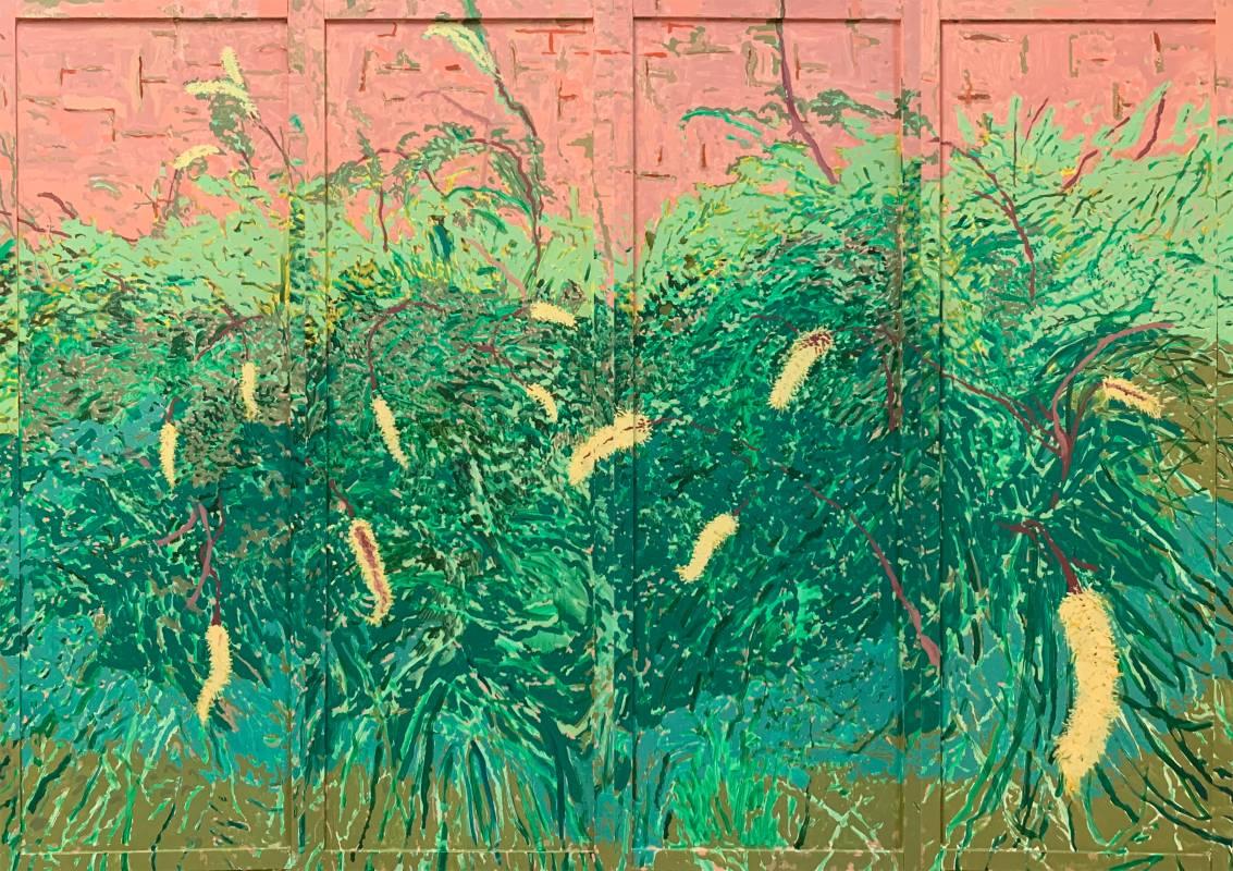 潘麒方,《蘆葦(屏風)》,油彩、畫布,2020