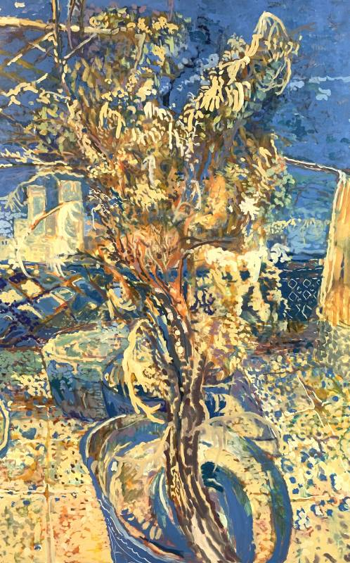 潘麒方,《金金金桔樹》,160×100cm,油彩、畫布,2020