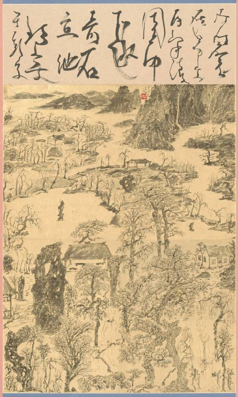 于彭 YU Peng 奇石泉流  Strange Rocks in the Creek  水墨、紙本 Ink on paper  102x61cm