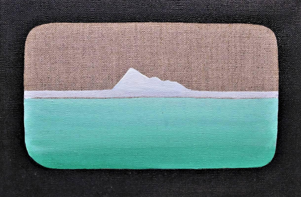 穹嶼-20, 油彩、畫布, 15.5x23cm, 2019