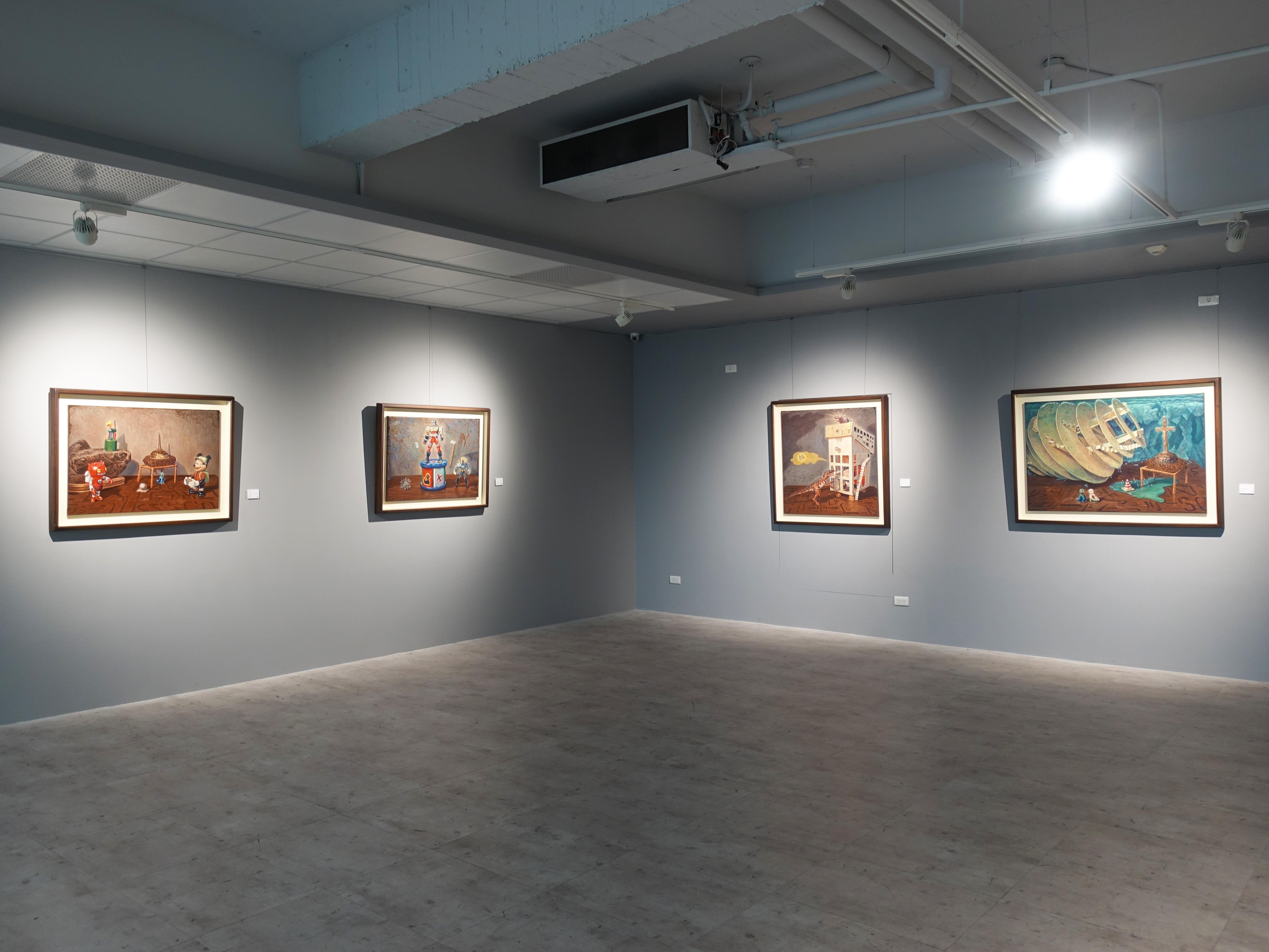 宛儒畫廊展出連建興、陶文岳、郭彥甫、謝宛儒四人聯展《藝避所》。