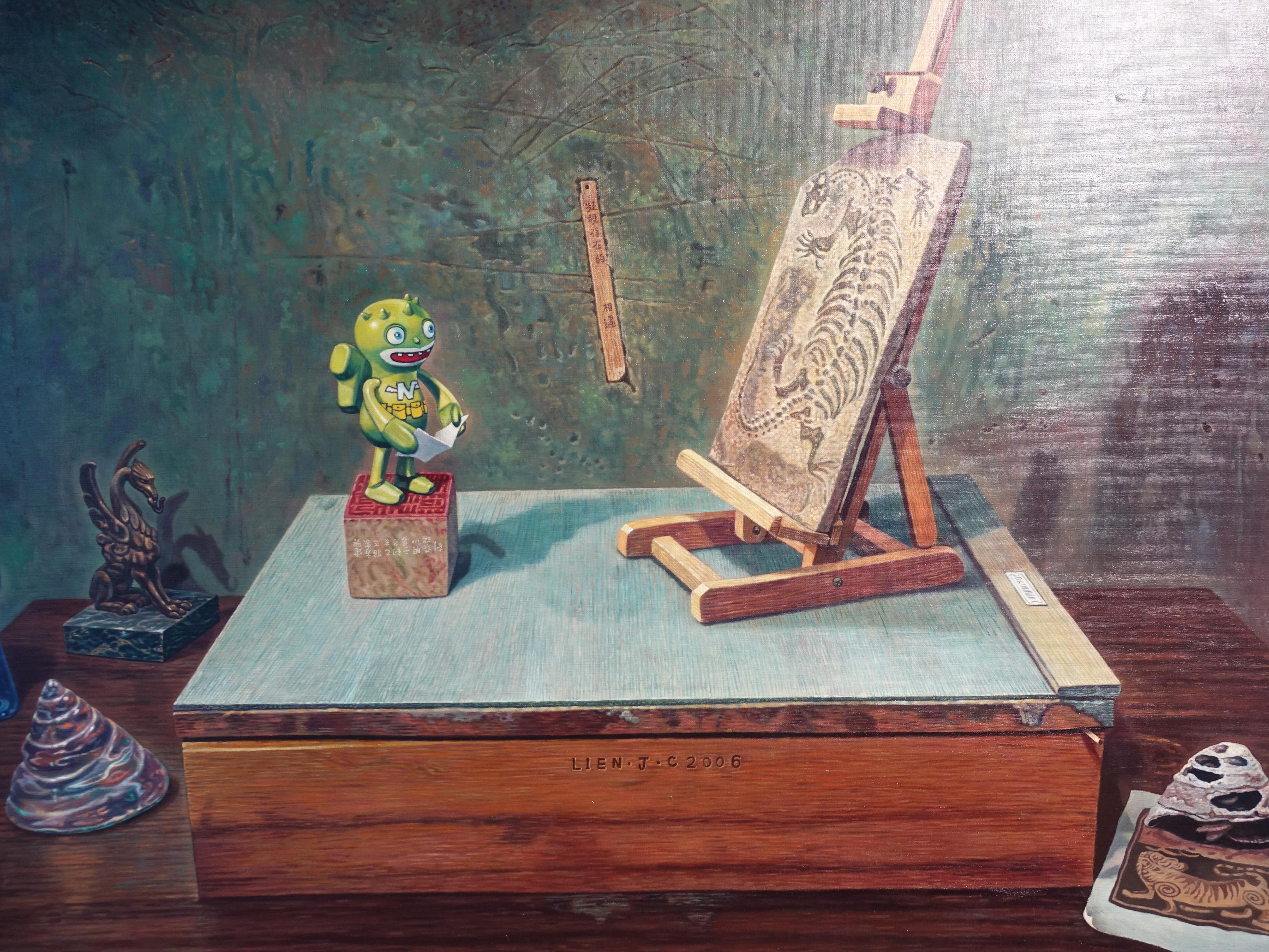 連建興,《感性的凝望》細節,130 x 89 cm,油彩、畫布,2006。