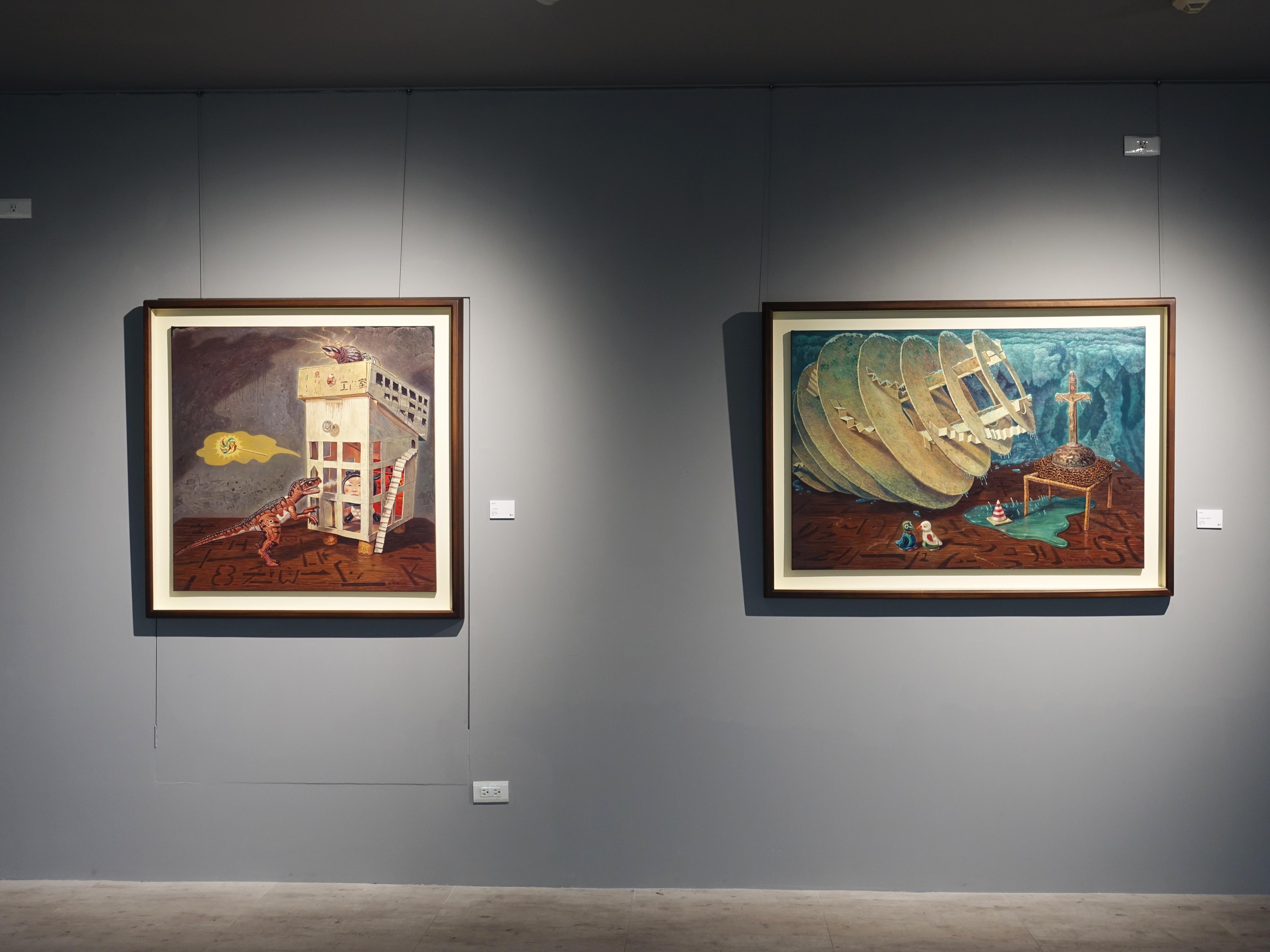 宛儒畫廊展出藝術家連建興油畫系列作品。