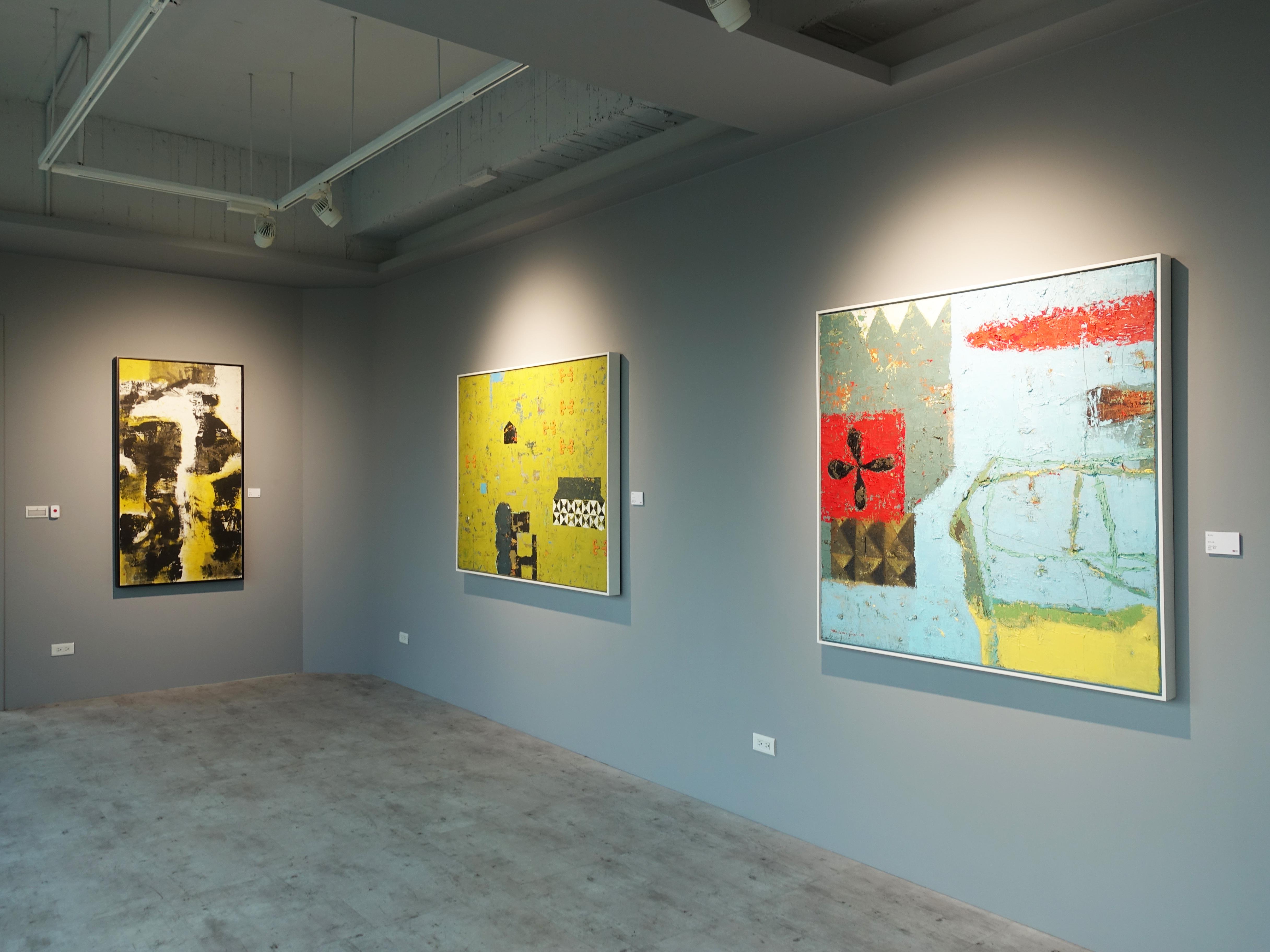 宛儒畫廊展出藝術家陶文岳油畫系列作品。