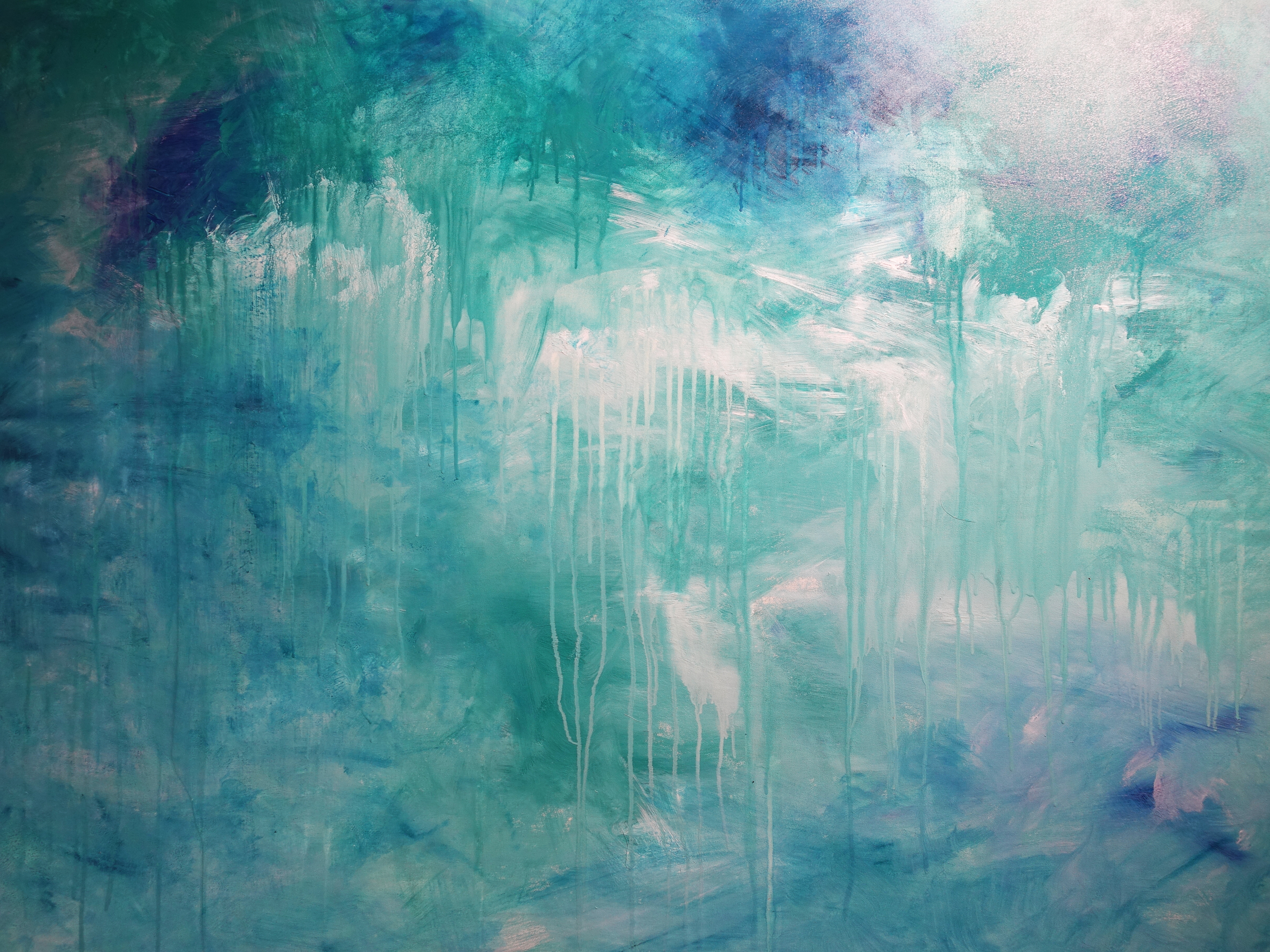 謝宛儒,《Show White》細節,130 x 194 cm,油彩、畫布,2020。