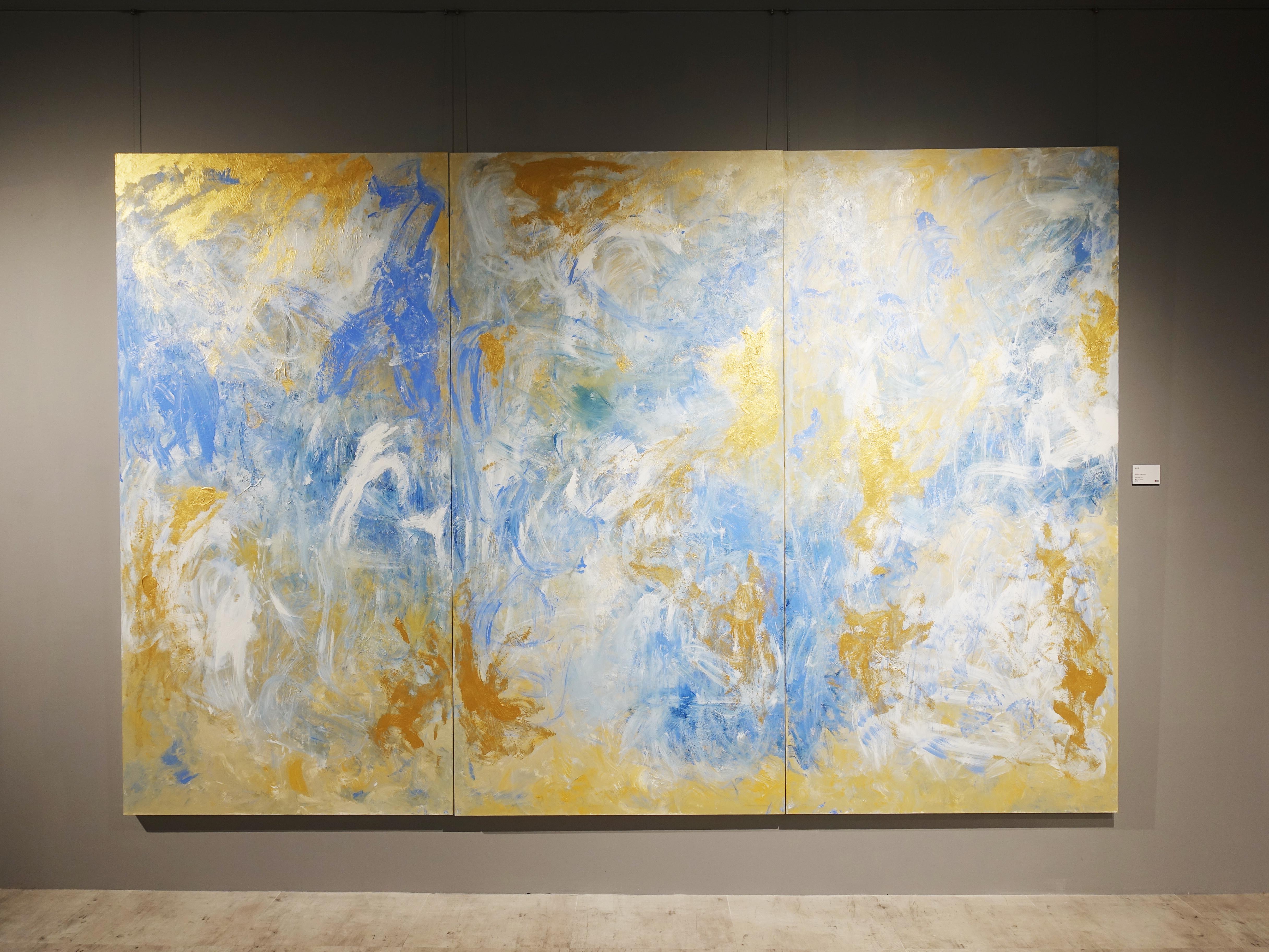 謝宛儒,《Golden Harmony》,200 x 300 cm,壓克力、畫布,2019。