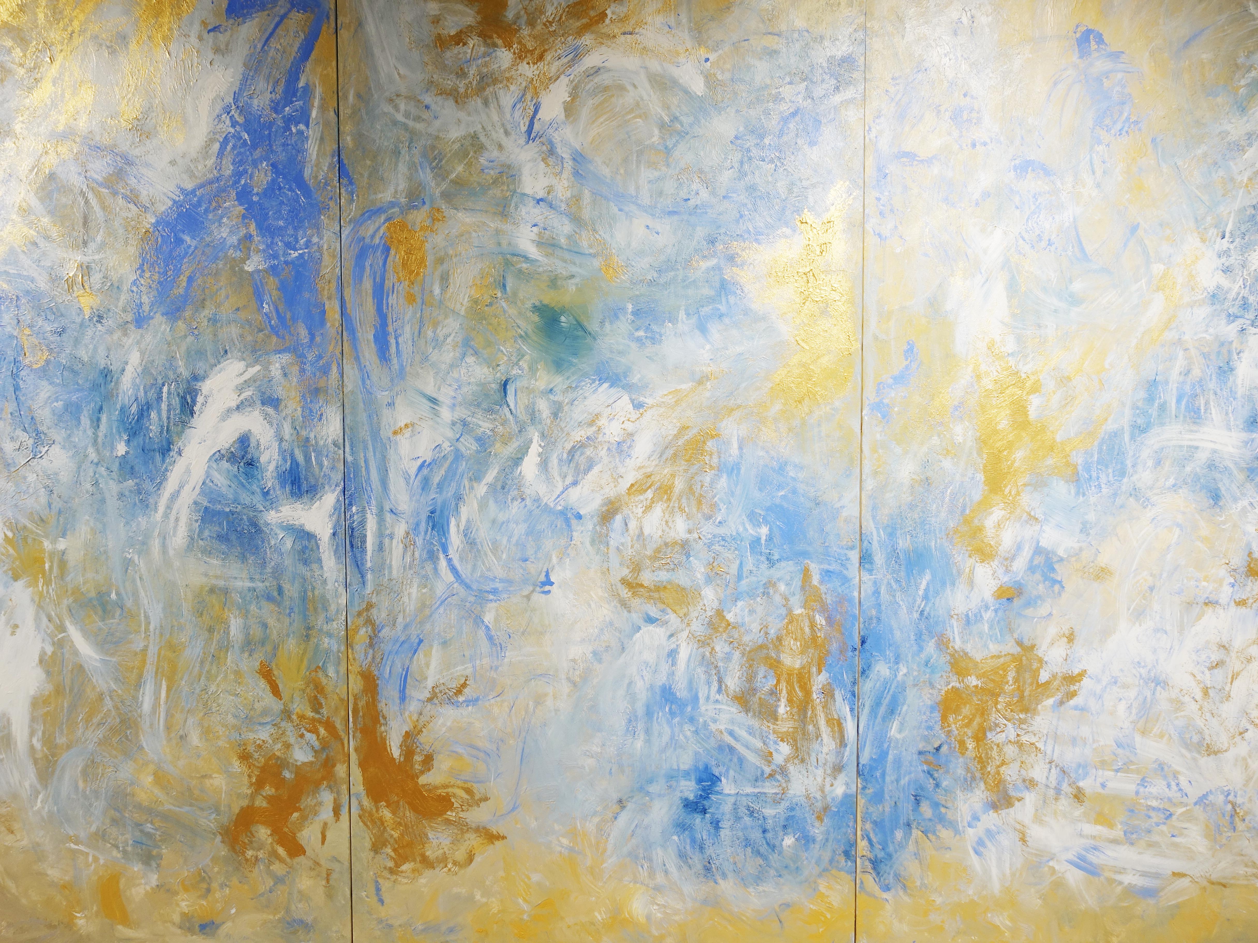 謝宛儒,《Golden Harmony》細節,200 x 300 cm,壓克力、畫布,2019。