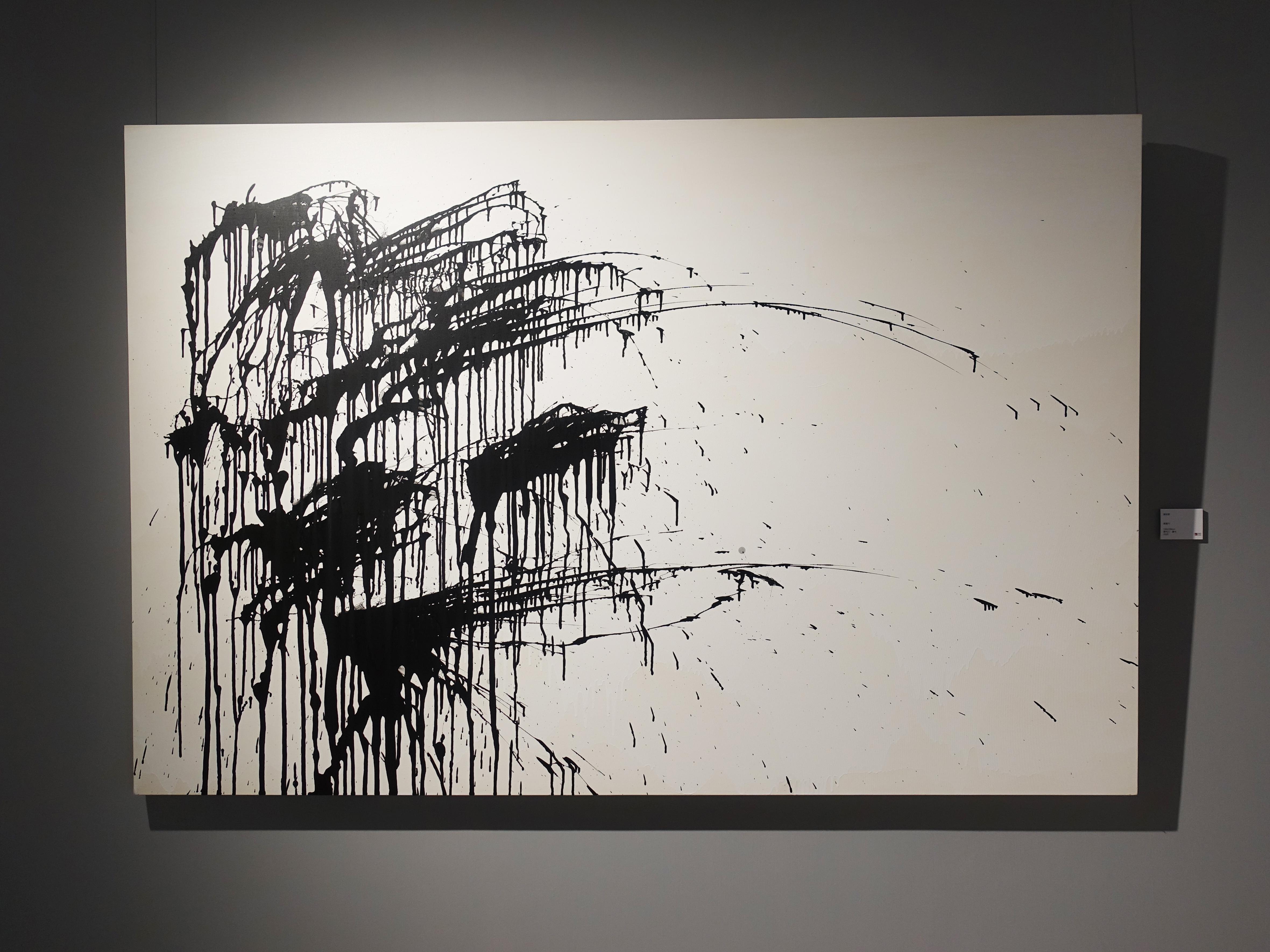 謝宛儒,《開運竹》,130 x 194 cm,壓克力、畫布,2020。