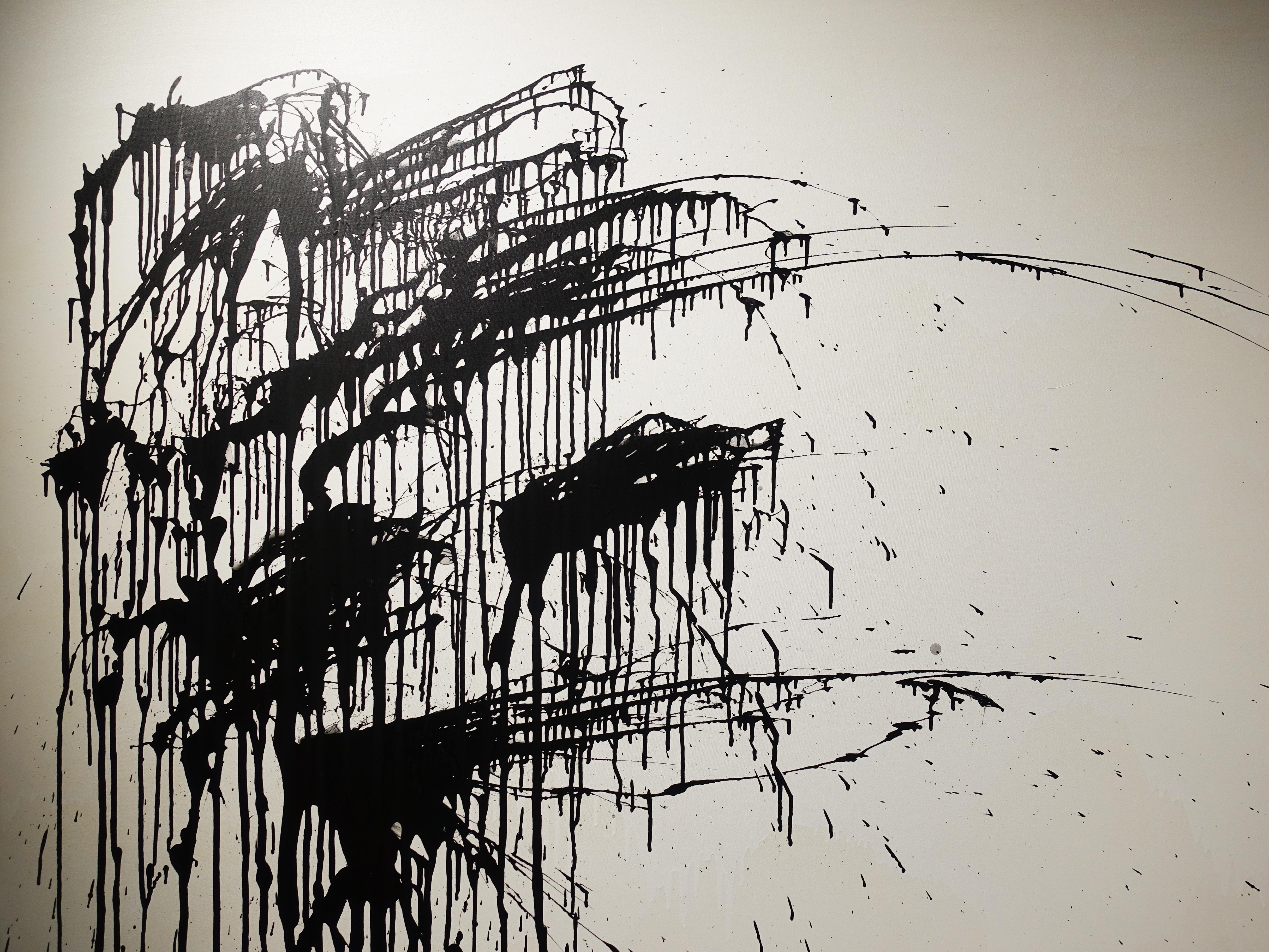 謝宛儒,《開運竹》細節,130 x 194 cm,壓克力、畫布,2020。