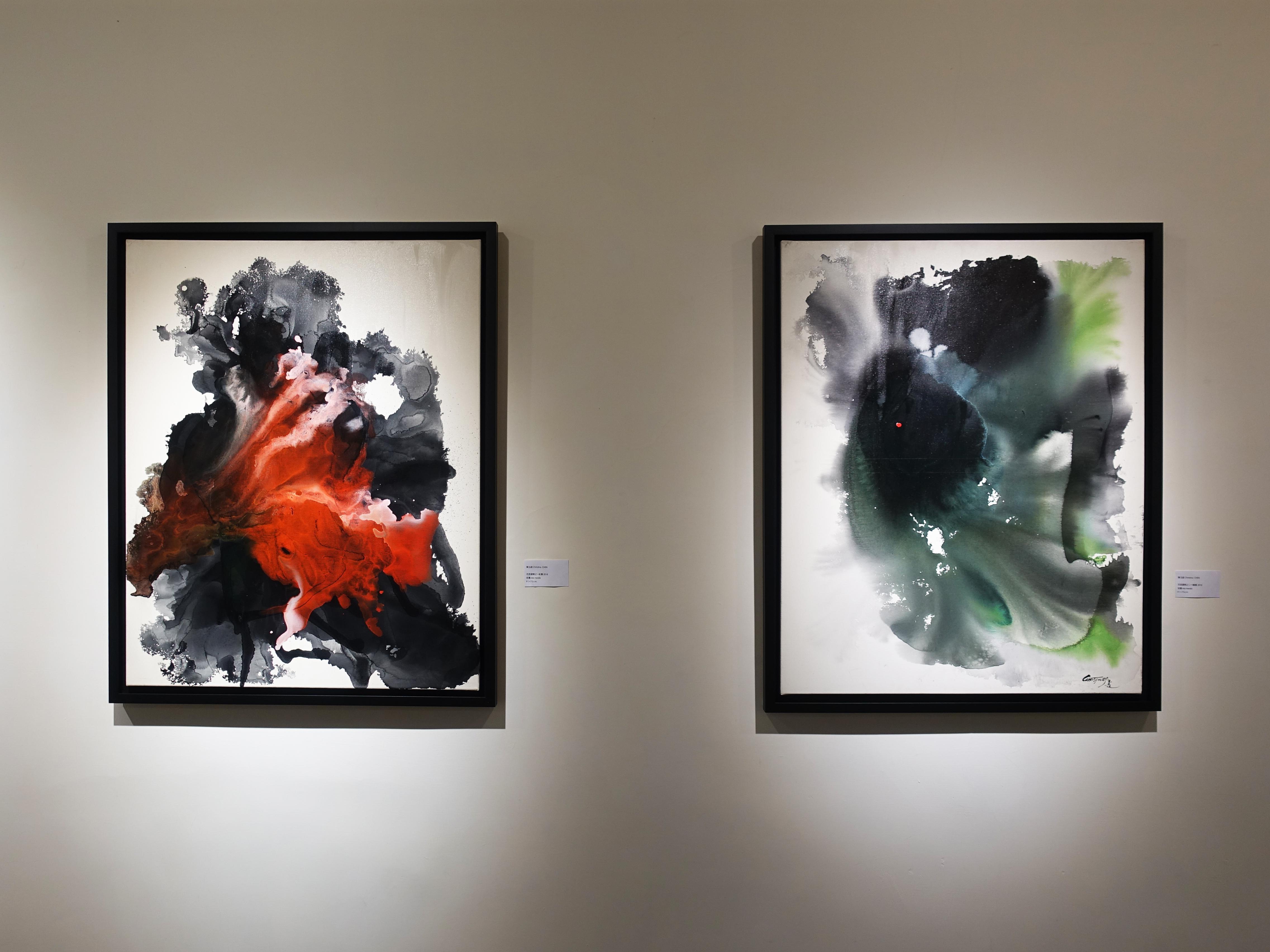 藝星藝術中心展出藝術家陳玉庭創作個展《春暖花開》。