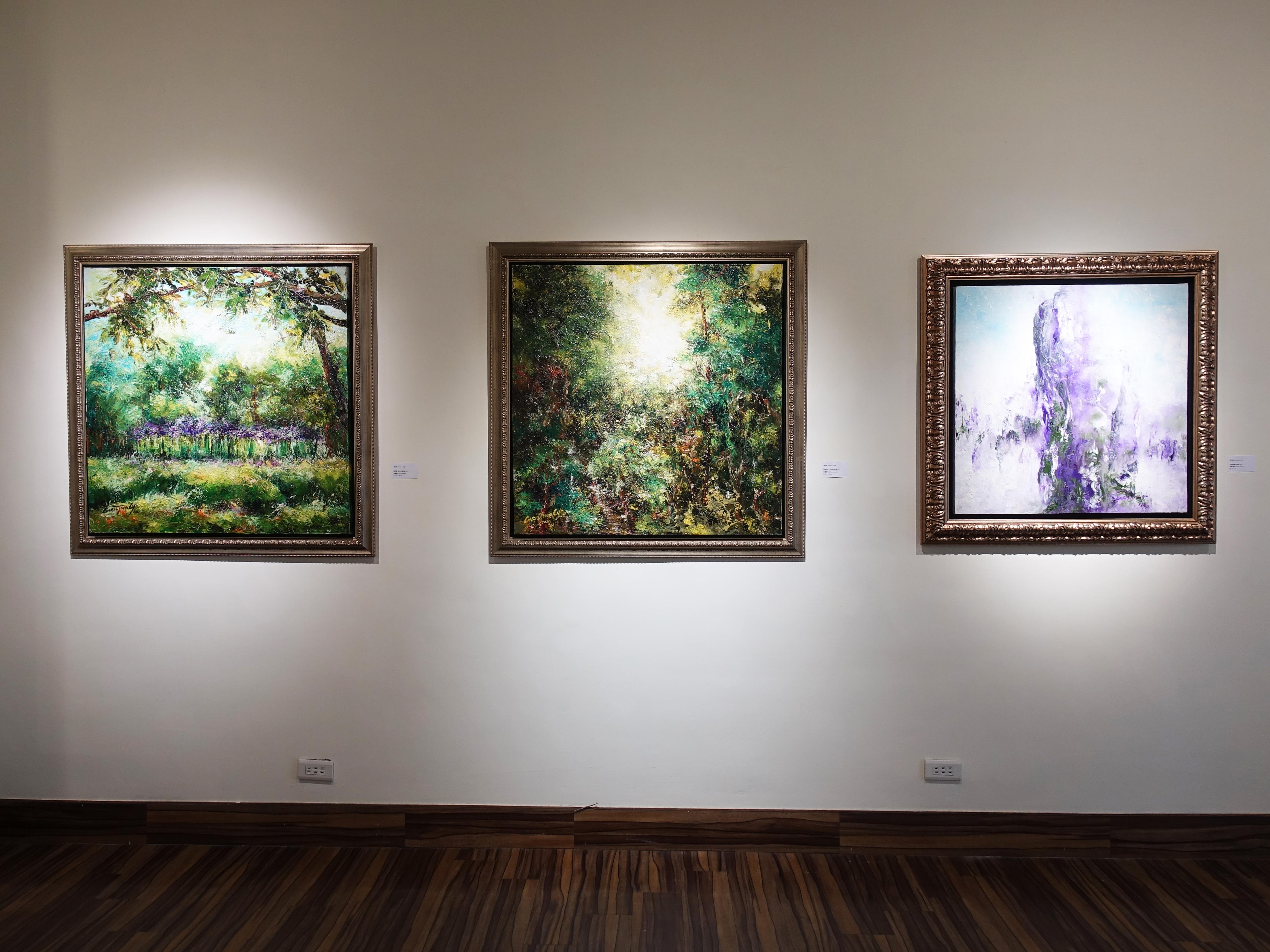 藝術家陳玉庭於藝星藝術中心展出油畫系列作品。