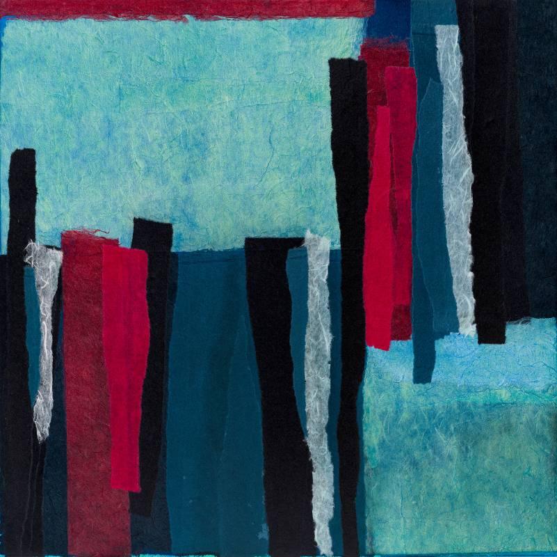 一首藍調的歌,65x65cm,複合媒材,2019
