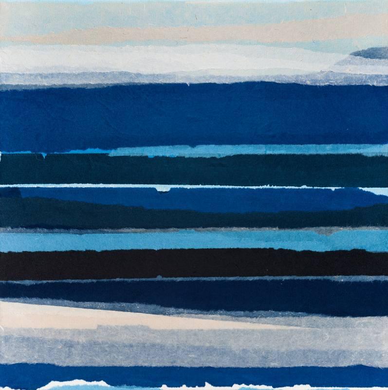海的印象,45x45cm,複合媒材,2019
