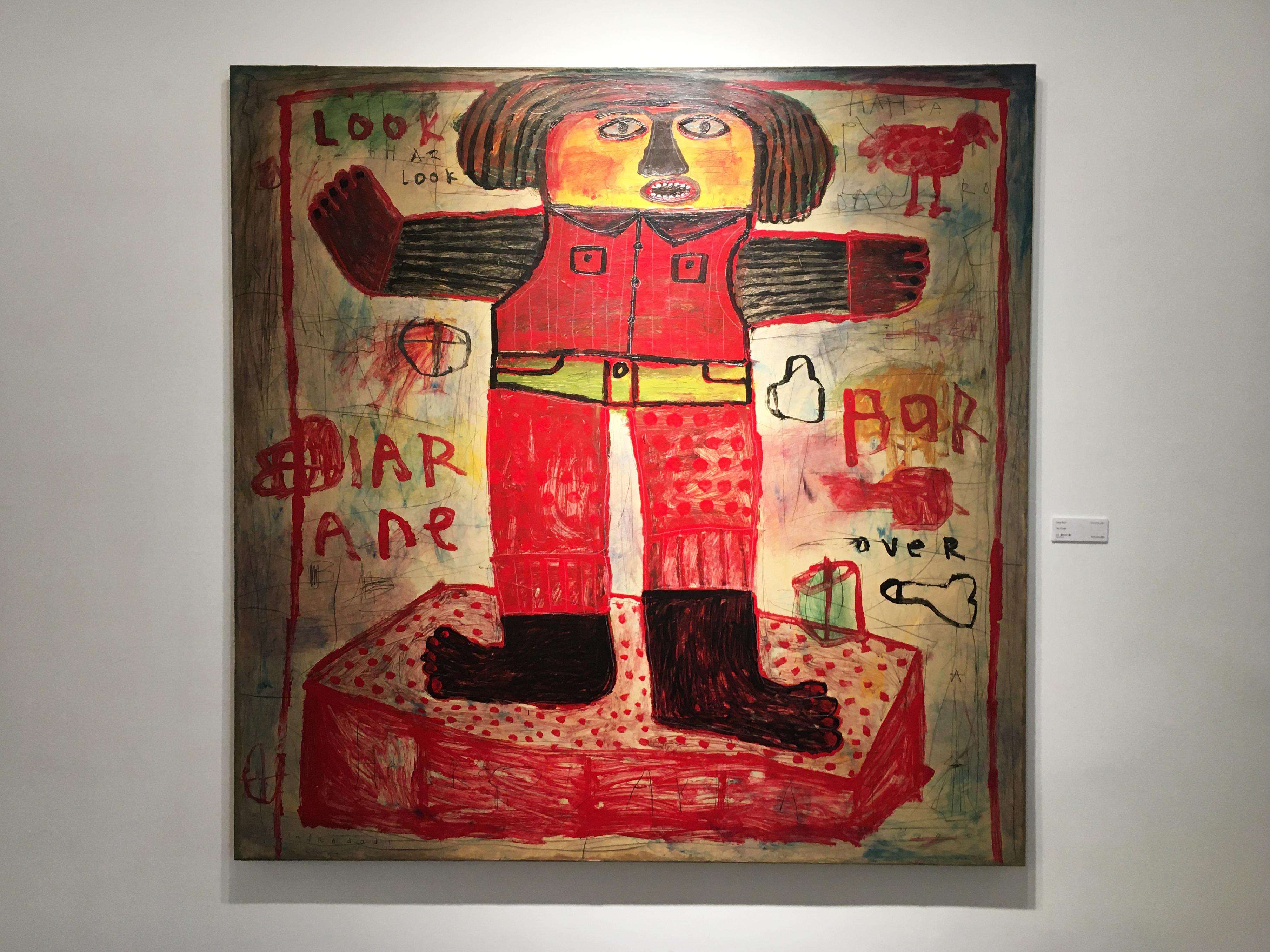 Indra Dodi,《The Winner》,130 x 130 cm,壓克力彩、畫布,2016。