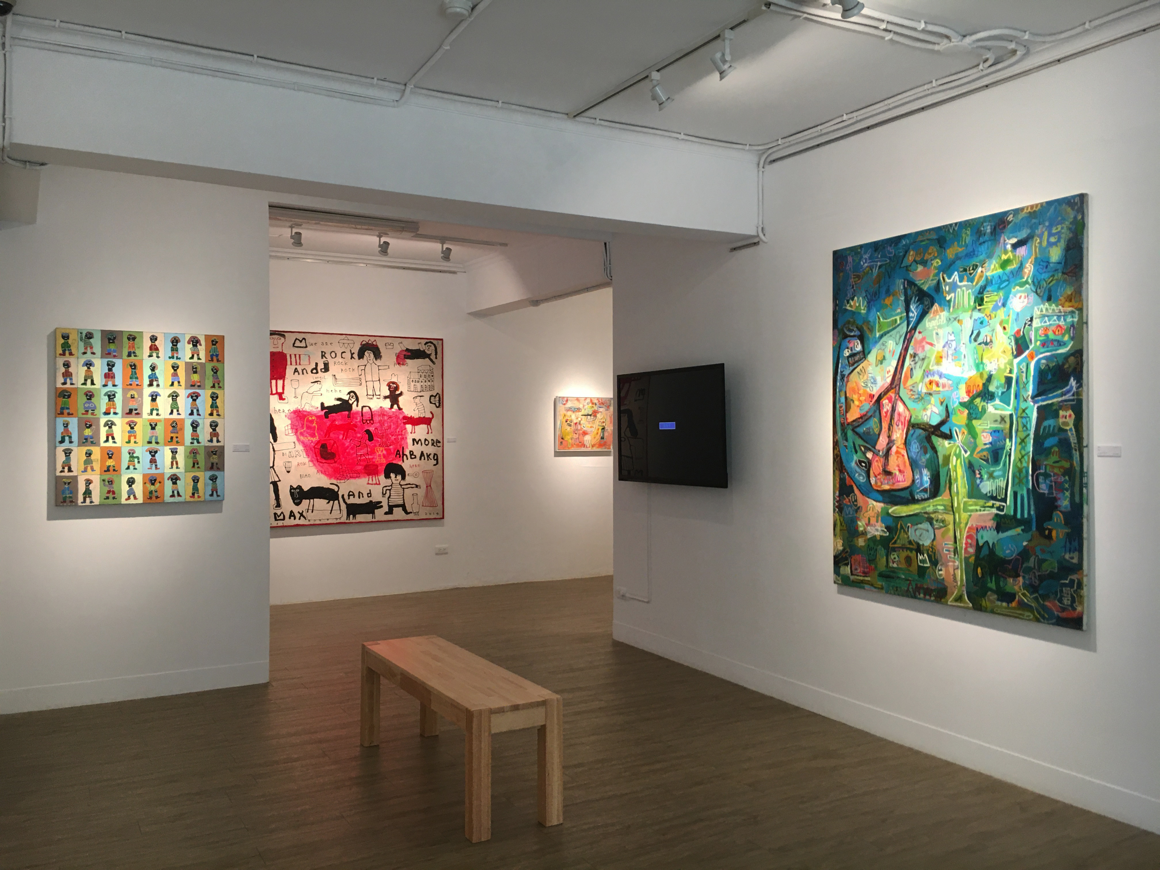 雅藝藝術中心展覽「另一個美好的日子」展場一隅。