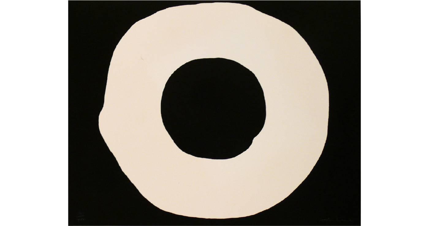 吉原治良 Jiro YOSHIHARA | Circle | 44.2 x 57 cm | Screen print | 1968