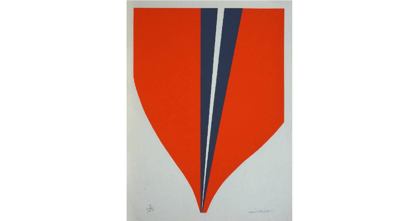 吉原通雄 Michio YOSHIHARA | Sakuhin | 33 x 24.5 cm | Screen print | 1969