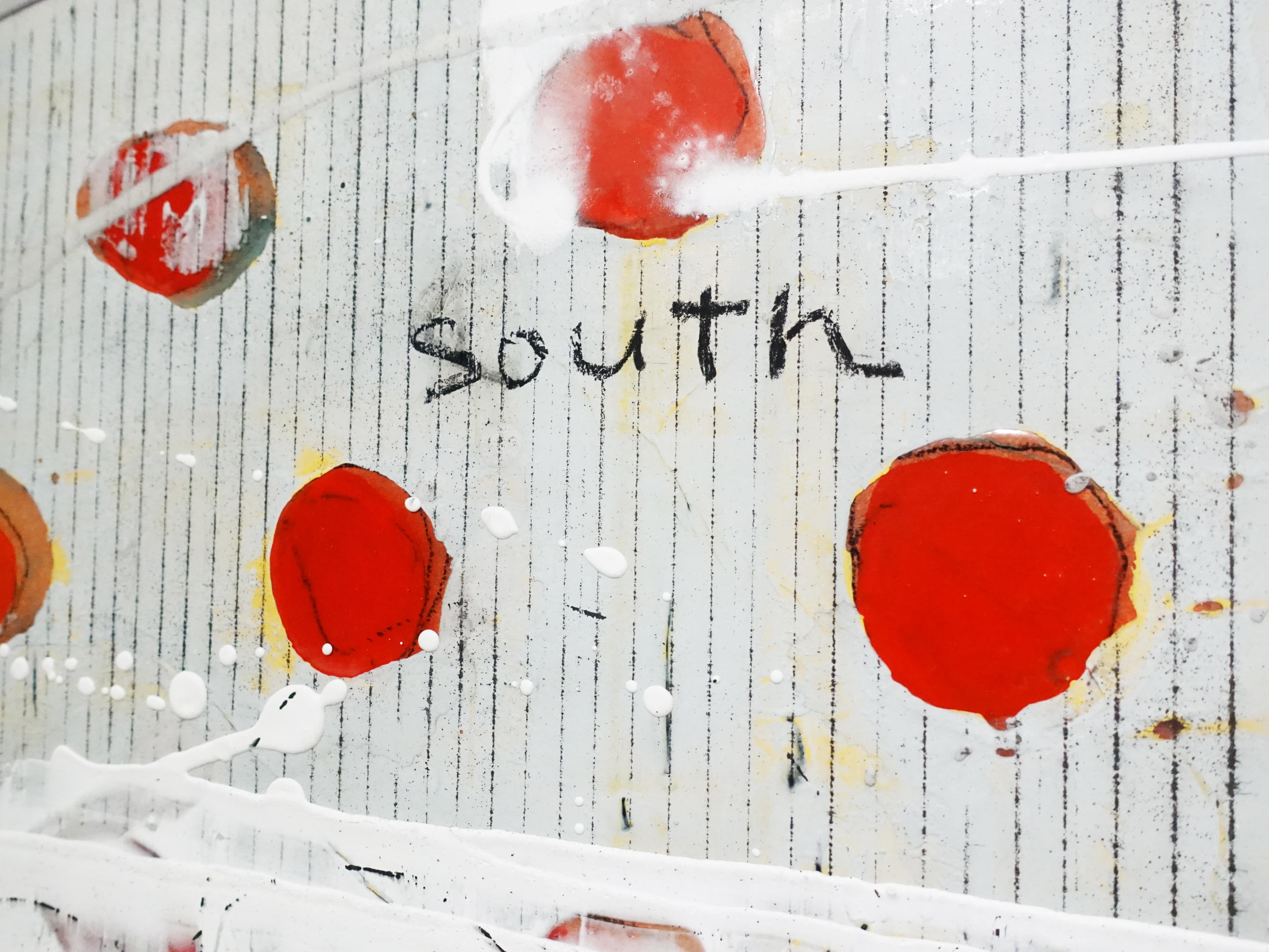 洪明爵,《迎向大南方》細節,50F,複合媒材,2020。