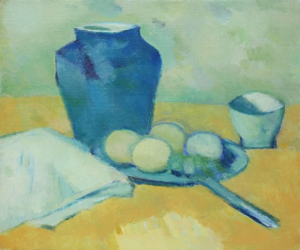 陳德旺 罐子與靜物 1983-84年  38x45.5cm 油彩.畫布