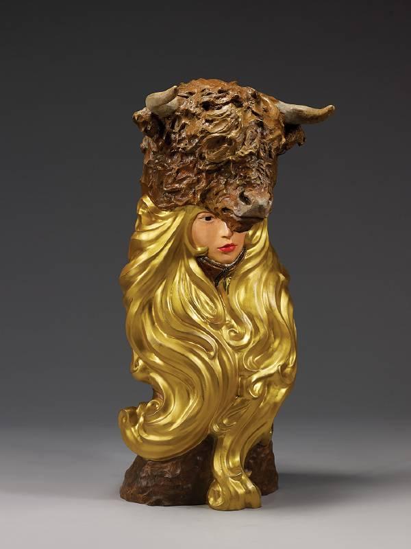 林國瑋│屋脊之矛│銅、油彩上色│35x36x80 cm│2019 │限量八件ED.8