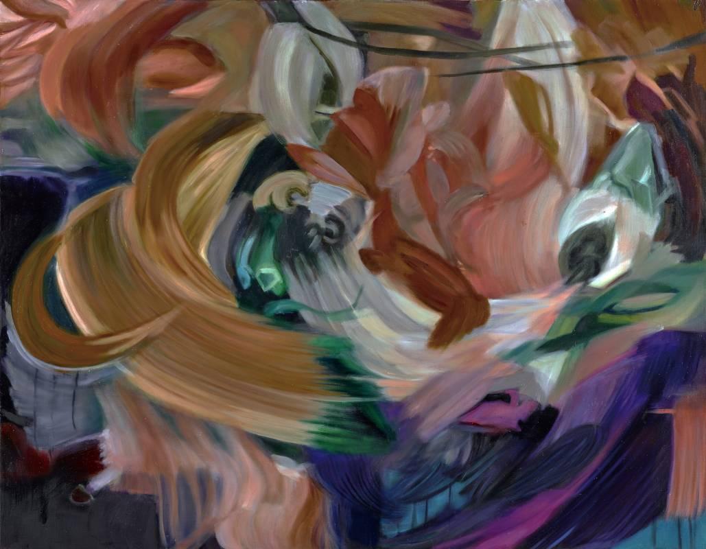 漂浮 2016-1,91 x 116.5 cm,油彩、畫布,2016