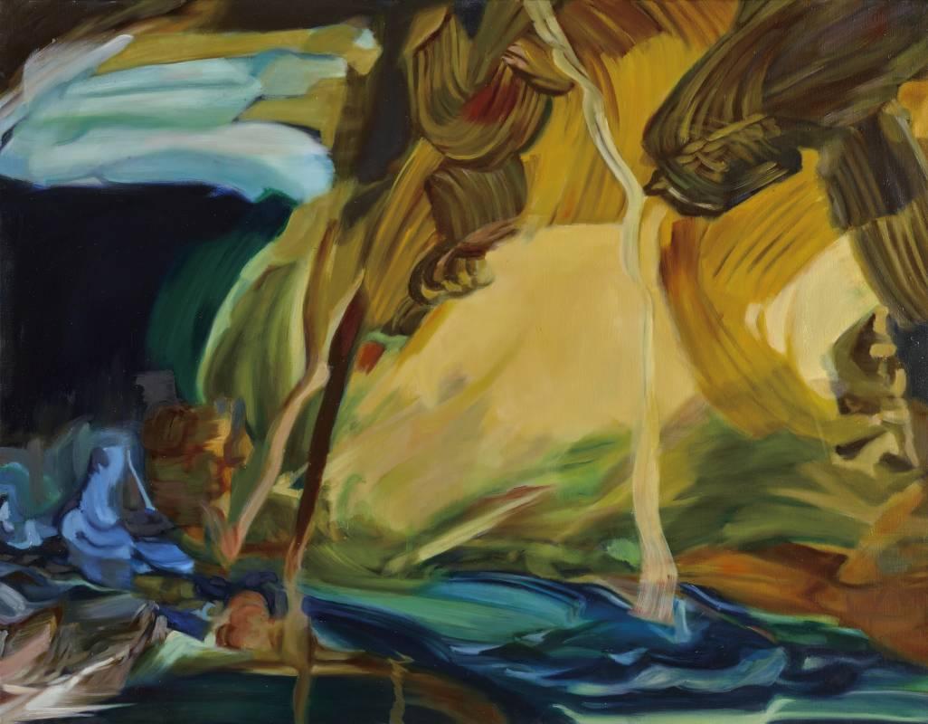 漂浮 2018-1,91 x 116.5 cm,油彩、畫布,2018