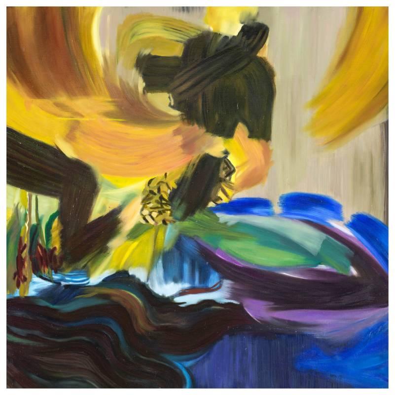 漂浮 2015-7,95 x 95 cm,油彩、畫布,2015