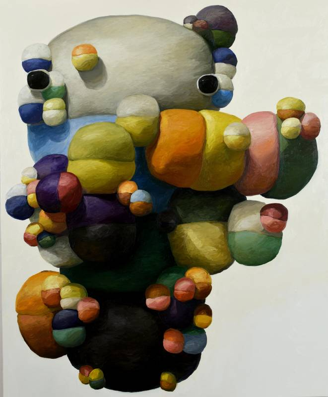 皮爾  Peals,  oil on canvas, 172.7 × 142.2cm, 2019