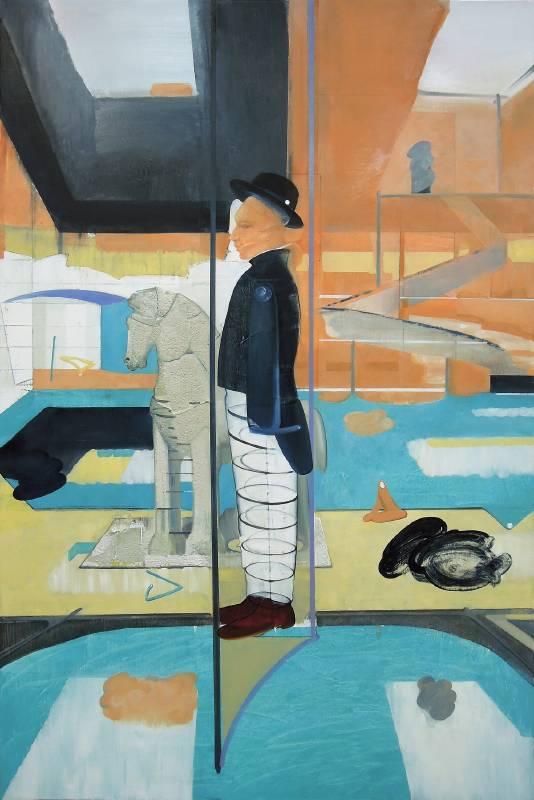 張驊-支架與影子-油畫-145.5x97cm-2020