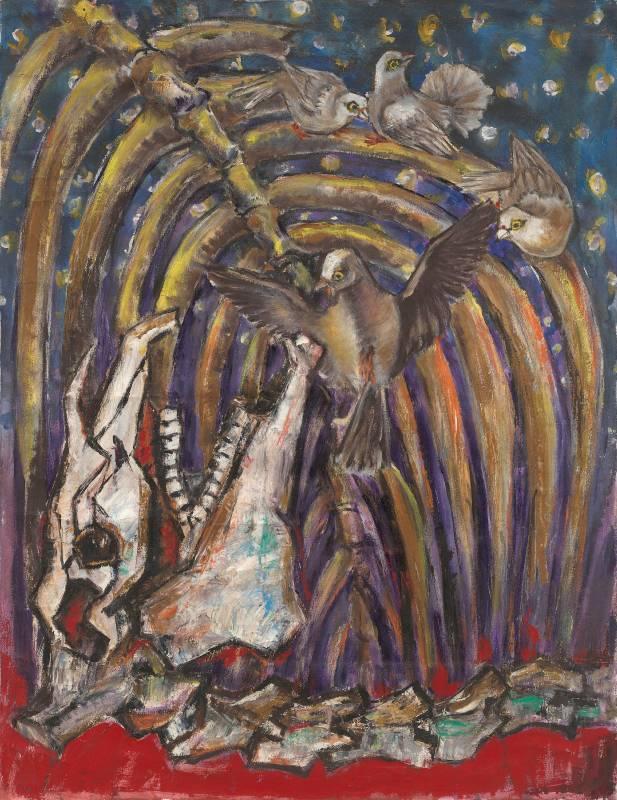 歐陽文苑_傳家-7_油彩、畫布_67x86cm_1980-1990