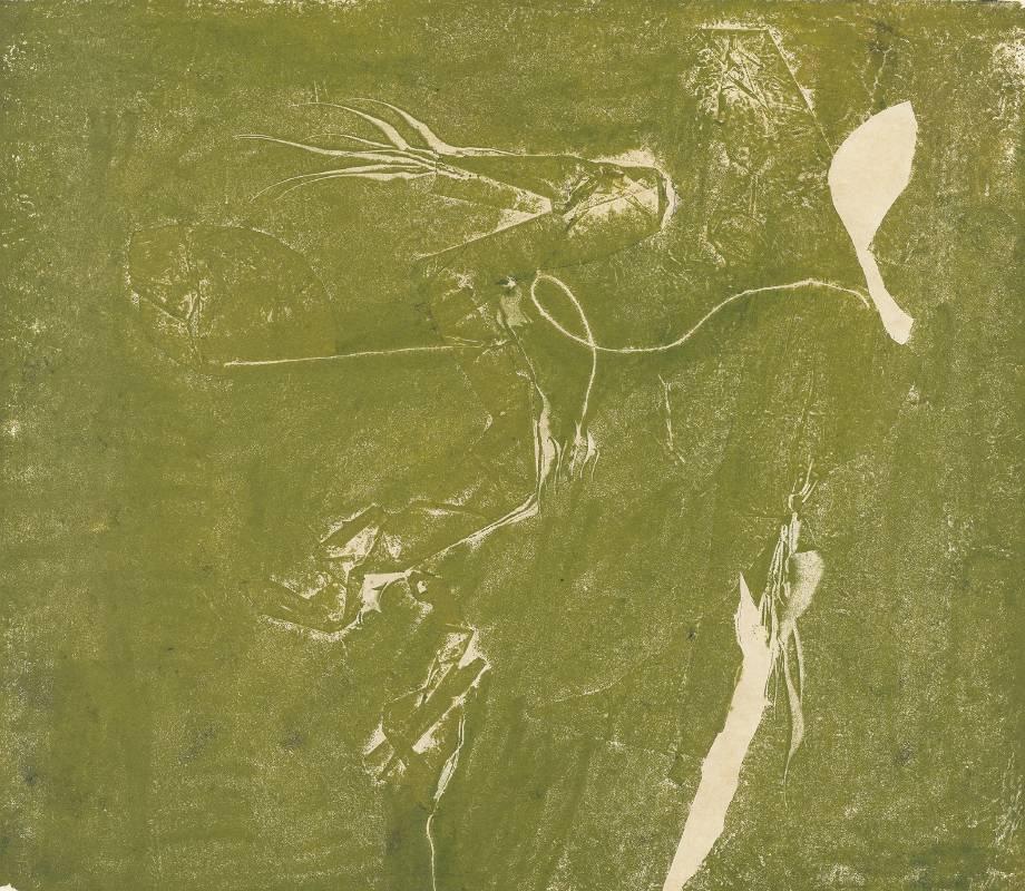 朱為白_悟化-7_油彩、紙本_35x40.5 cm_1971