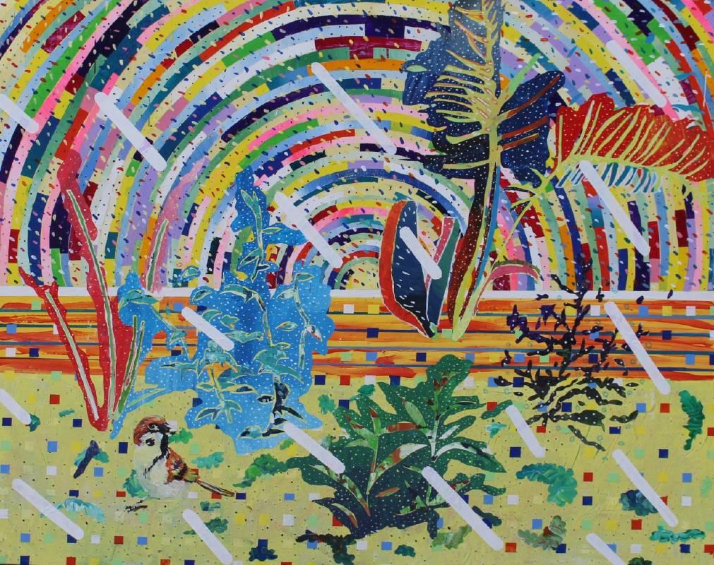 李彥緯 Yan-Wei-Lee,《無題》,91 x 72.5cm,壓克力顏料、畫布,2018。