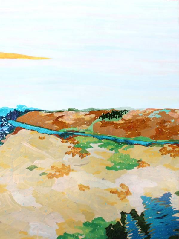 游心妤 Yu-Hsin-Yu,《曠野》,130 x 97cm,壓克力、畫布,2018。