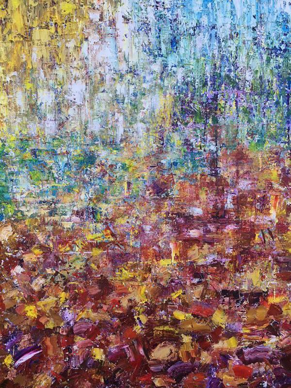 譚竣鴻 Jun-Hung-Tan,《走入色彩的日子》,116.5 x 91cm,油彩、畫布,2017。