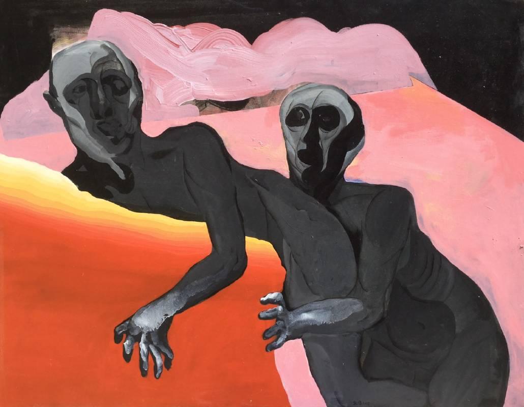 鄭敬儒 / 搬沙發 / 116.5x91cm / Acrylic on Canvas / 2015