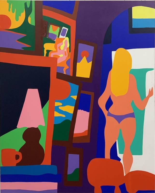 陶德・詹姆斯 Todd James, 從這裡直到永恆 From Here Til Eternity, 2020, 壓克力畫布 Acrylic on canvas, 152.4 x 121.9 cm (Whitestone Gallery)