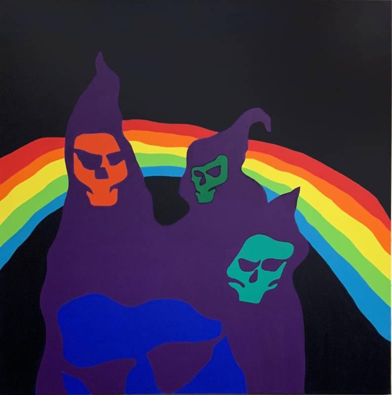 陶德・詹姆斯 Todd James, 黑暗中的彩虹 Rainbow in the Dark, 2020, 壓克力畫布 Acrylic on canvas, 182.9 x 182.9 cm (Whitestone Gallery)