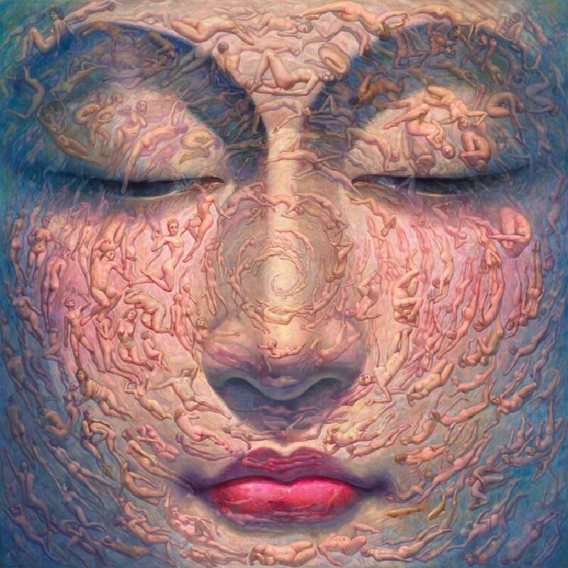 《心經》300x300cm 油彩畫布 2011