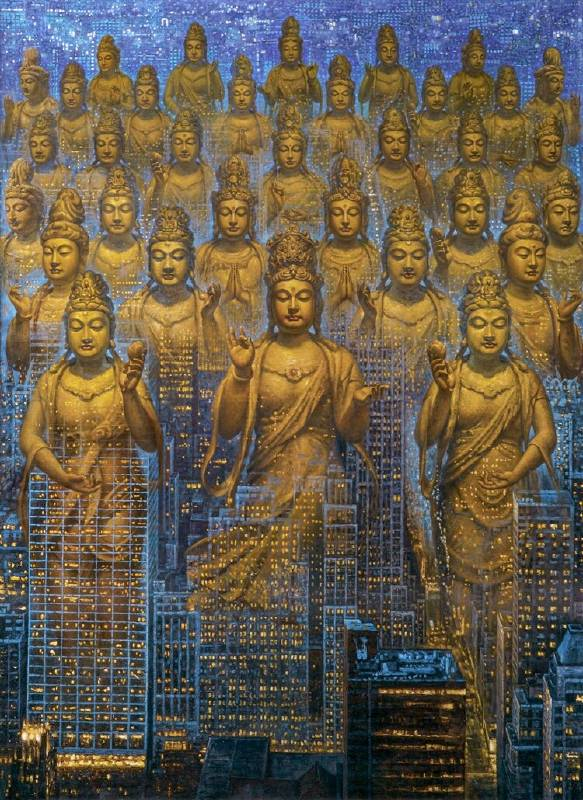 《三十三觀音》285x216cm 油彩畫布 2012