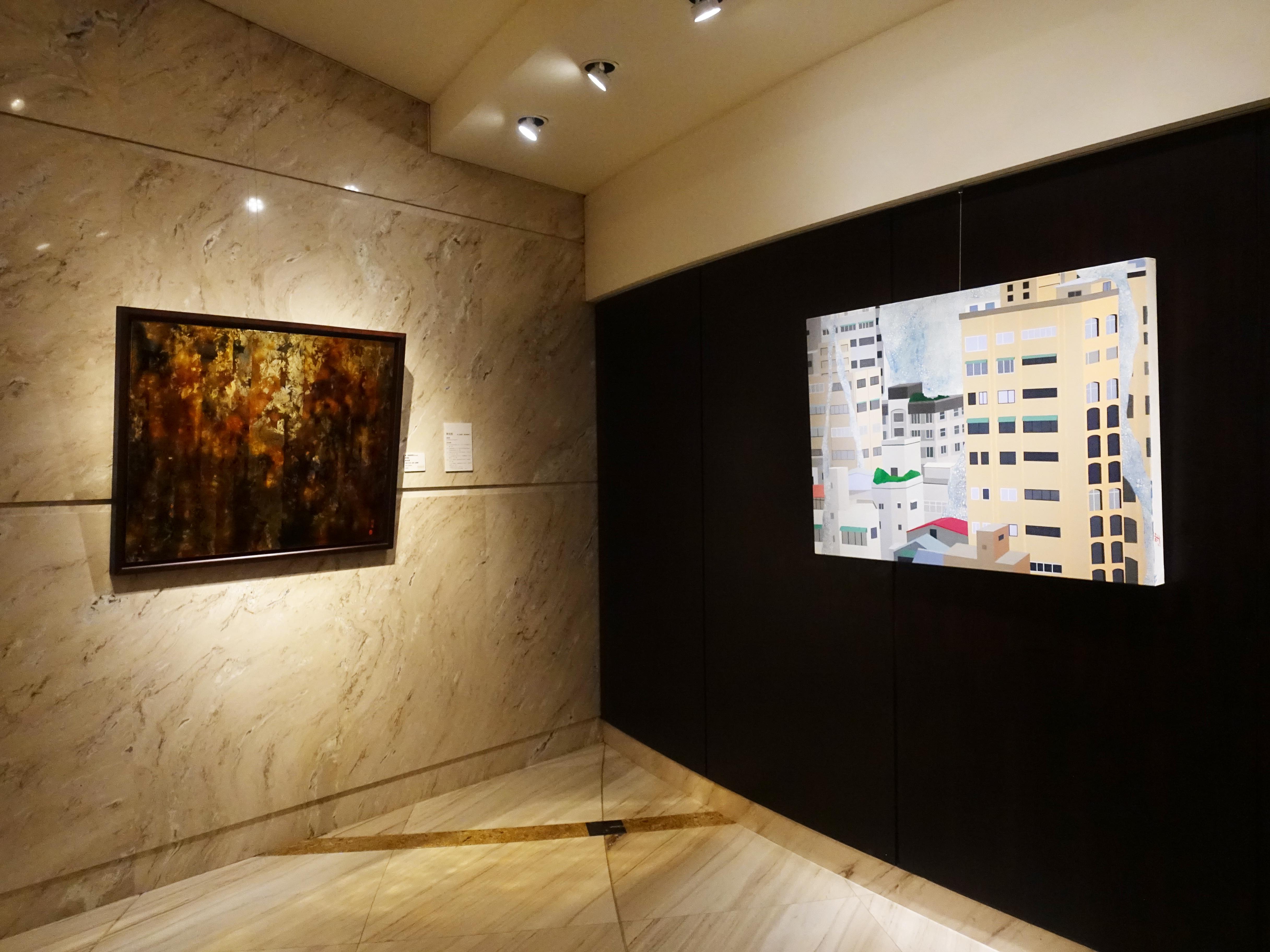 王道銀行基金會展出【構圖‧臺灣】視覺藝術創作徵件前兩屆得獎者。