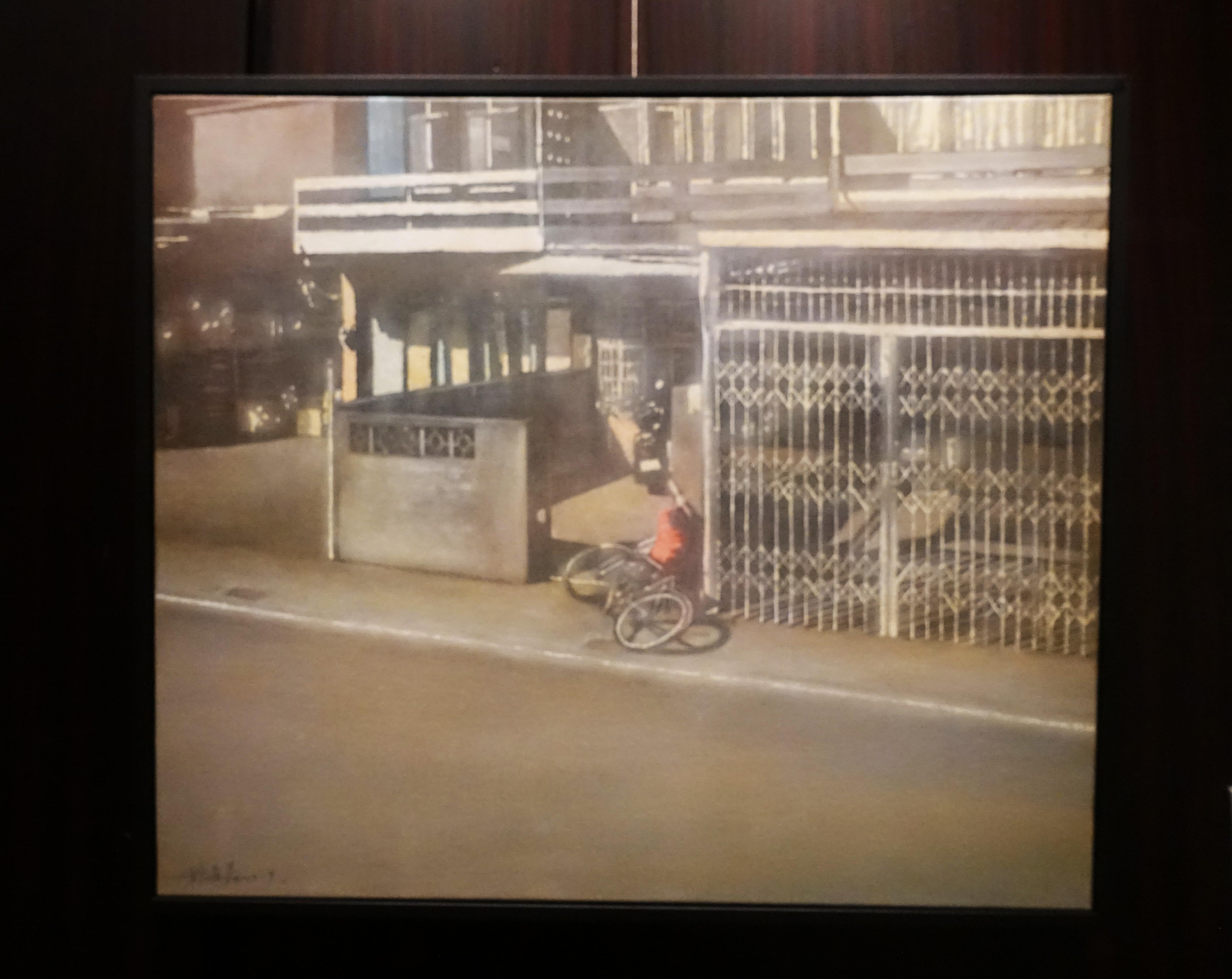 林煥嘉,《哈哈哈哈哈》,壓克力畫布,45.5x53cm,2019。